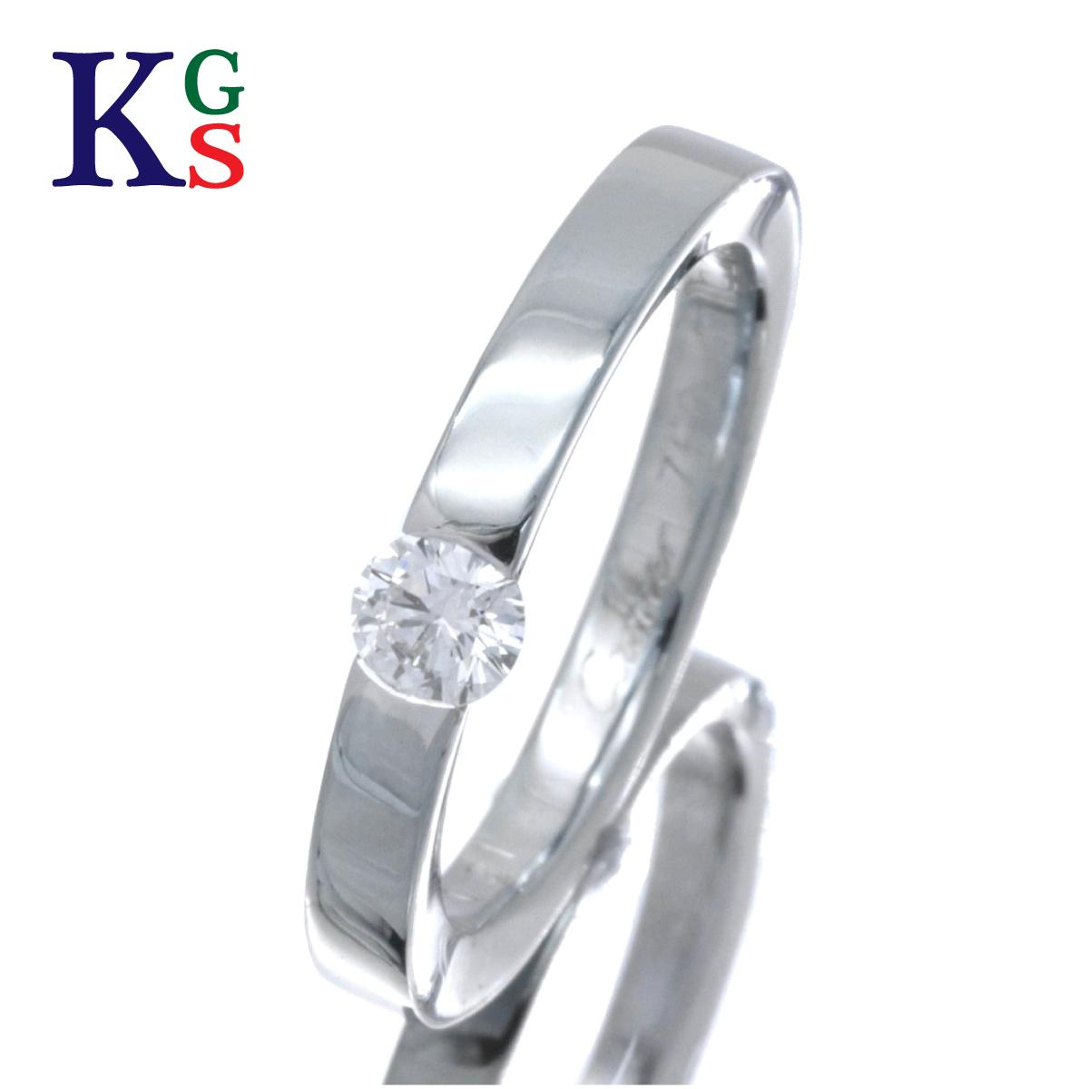 【ギフト品質】【名入れ】【0.21ct】カルティエ/Cartier レディース ジュエリー 1Pダイヤ エンゲージリング/婚約指輪 ホワイトゴールド K18WG 1227