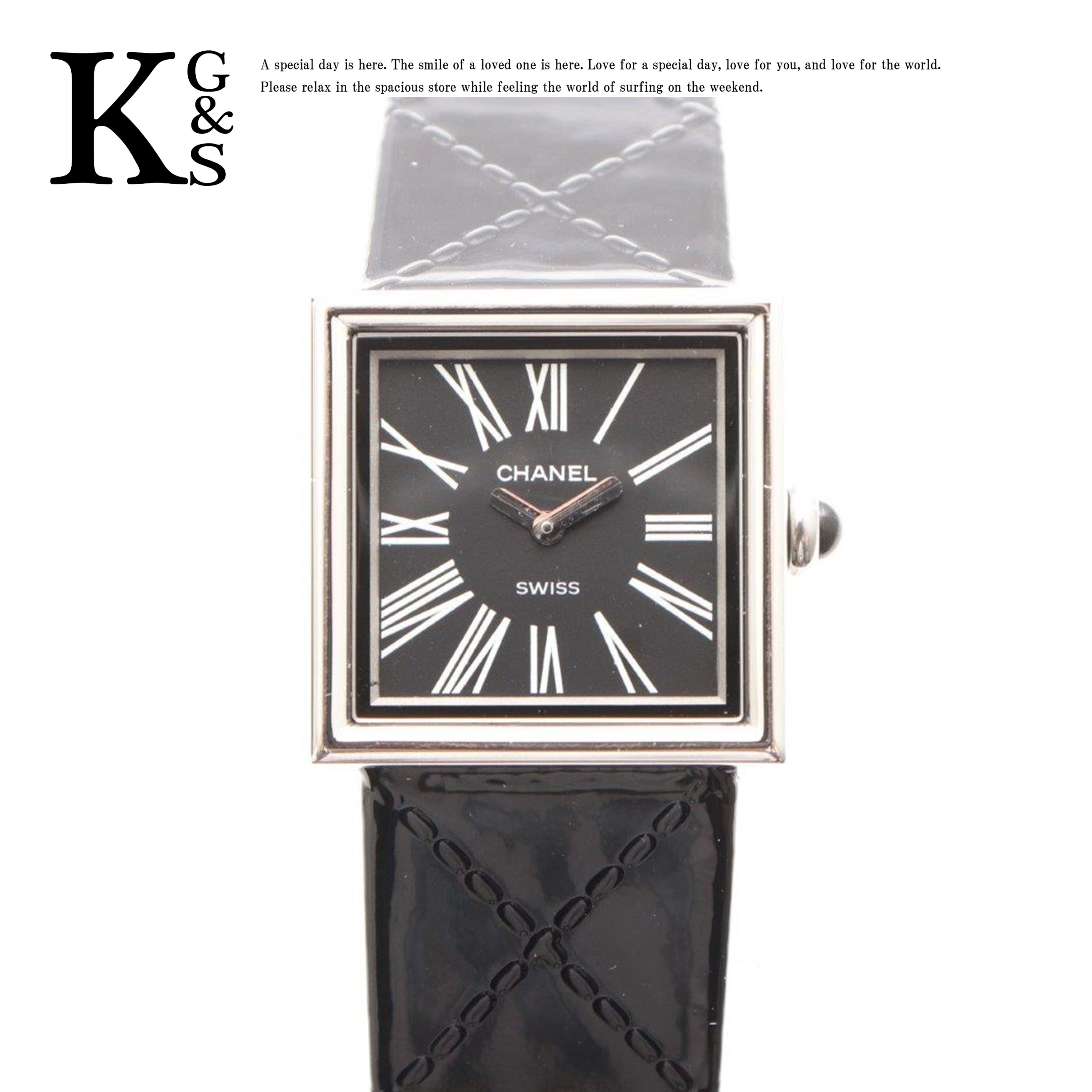 【ギフト品質】シャネル/CHANEL レディース マドモアゼル 腕時計 シルバー×ブラック文字盤 SS×レザーベルト H0820 クオーツ