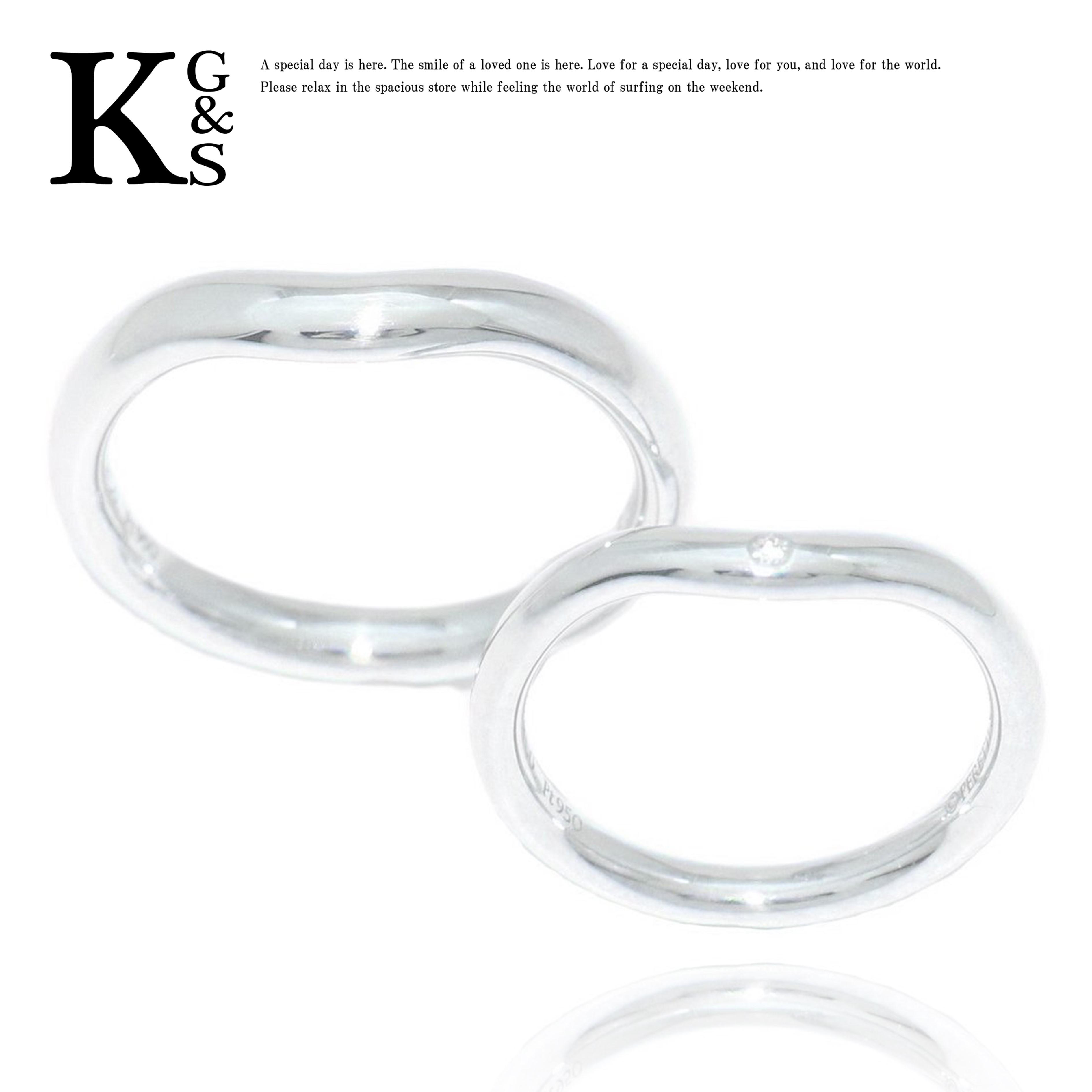 【ギフト品質】【名入れ】ティファニー/Tiffany&co ジュエリー ペアリング マリッジリング カーブド バンドリング プラチナ Pt950 ダイヤモンド 結婚指輪