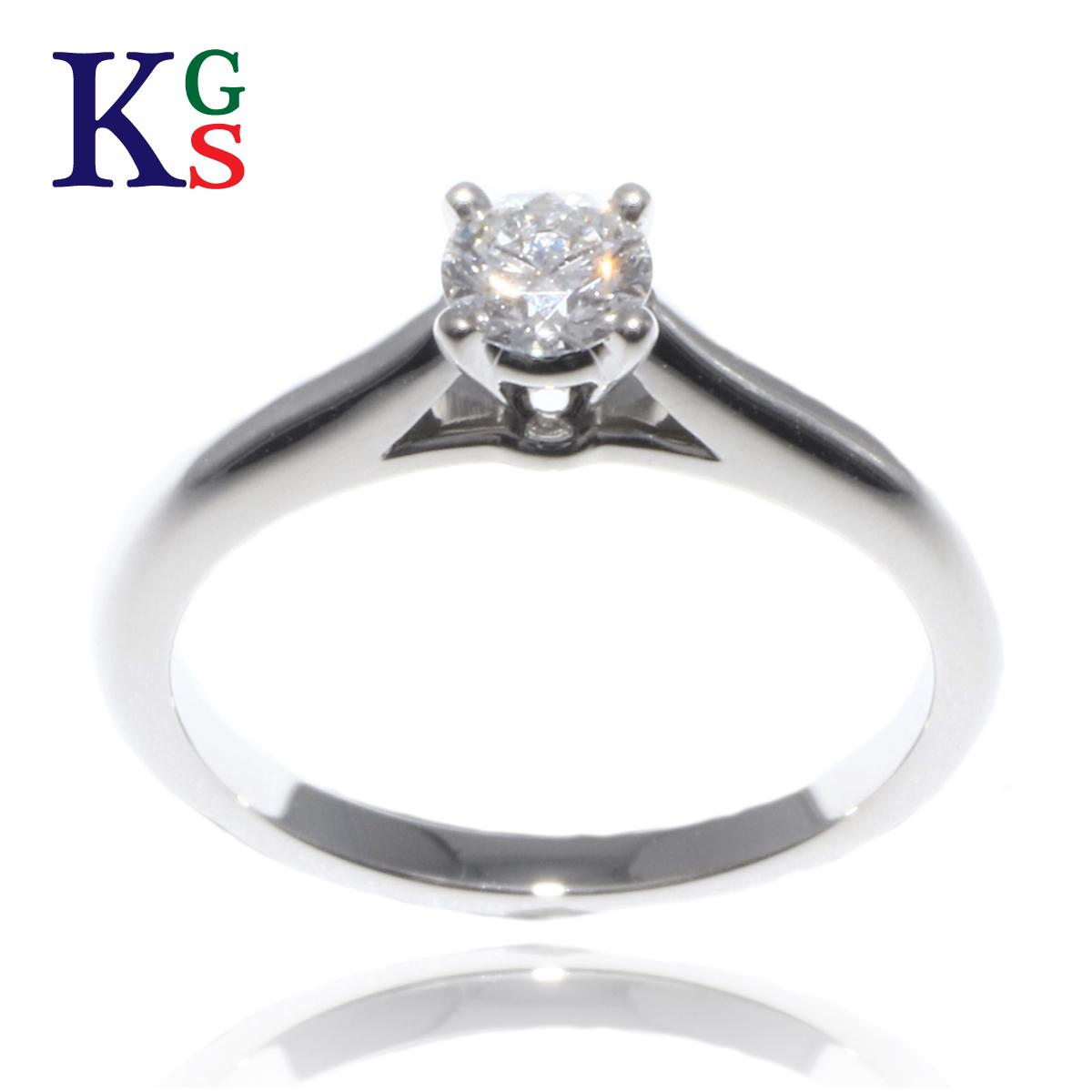 【ギフト品質】【名入れ】【0.19ct】カルティエ/Cartier レディース ジュエリー ソリテール エンゲージリング 婚約指輪 Pt950 1Pダイヤモンド