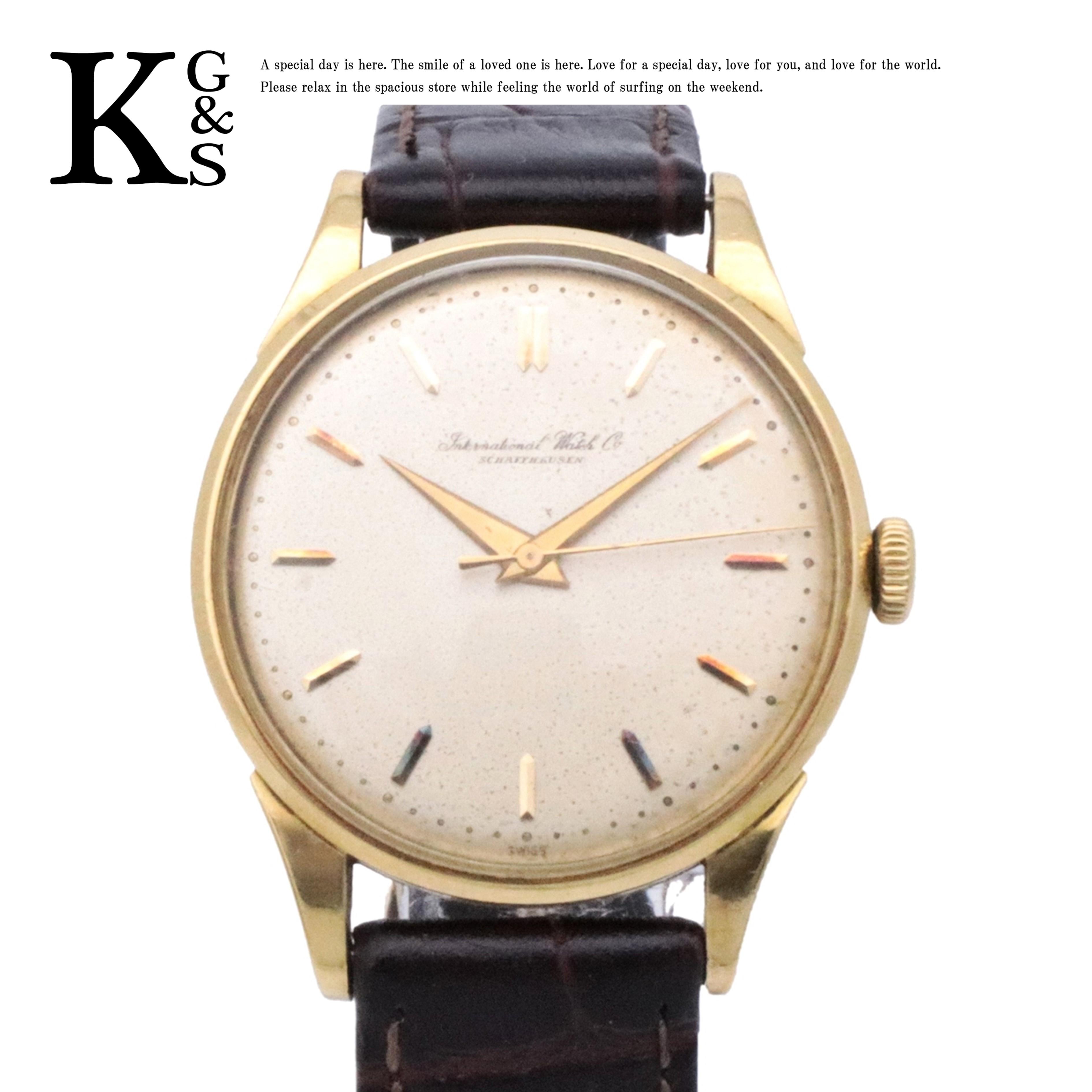 【中古】【アンティーク】【訳有】IWC インターナショナルウォッチカンパニー シャフハウゼン 手巻き 腕時計 K18YG 750 イエローゴールド