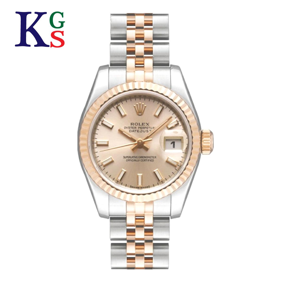 【ギフト品質】ロレックス/ROLEX レディース 腕時計 デイトジャスト ピンク文字盤 バーインデックス エバーローズゴールド K18PG×ステンレススチール 自動巻き オートマティック 179171【02】