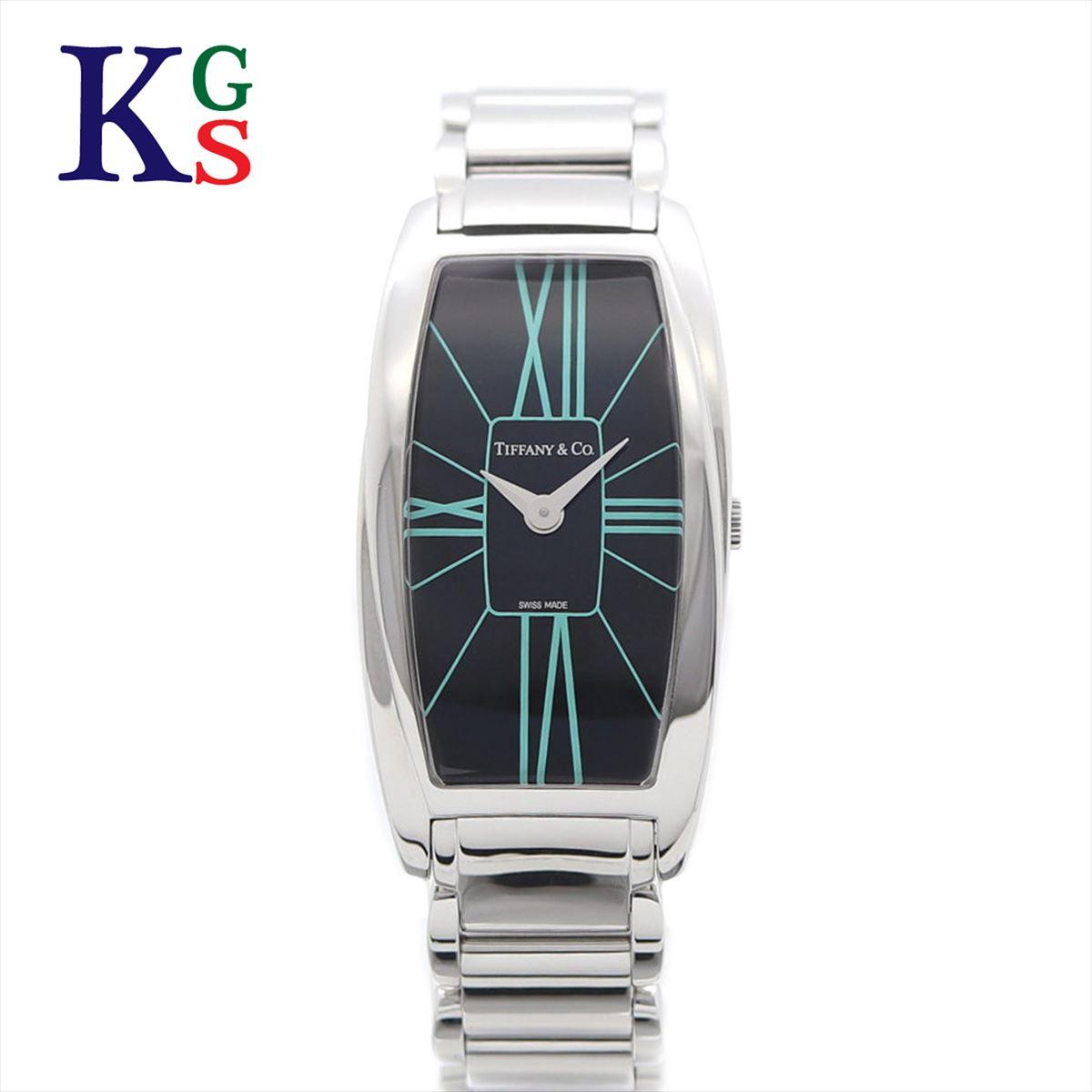 【ギフト品質】ティファニー/Tiffany&co レディース 腕時計 ジェメア クオーツ ステンレススチール ブラック文字盤 Z6401.10.10A19A00A