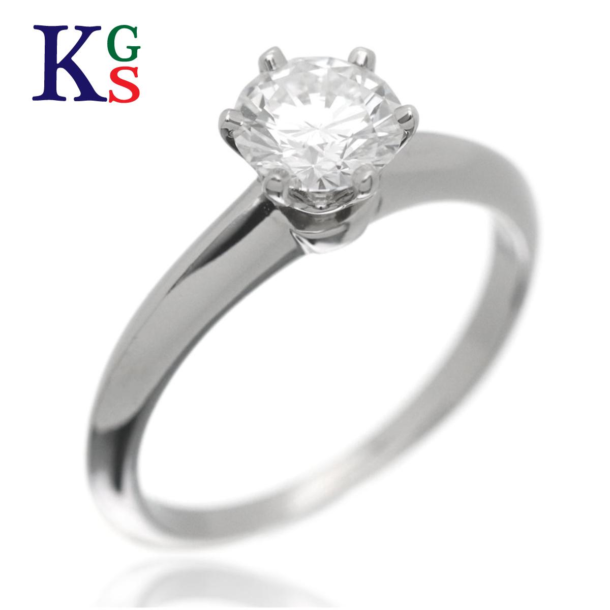 【ギフト品質】【名入れ】【0.71ct】【4号~16号】ティファニー/Tiffany&co レディース エンゲージリング 婚約指輪 セッティング ソリティアリング Pt950×1Pダイヤモンド【17】