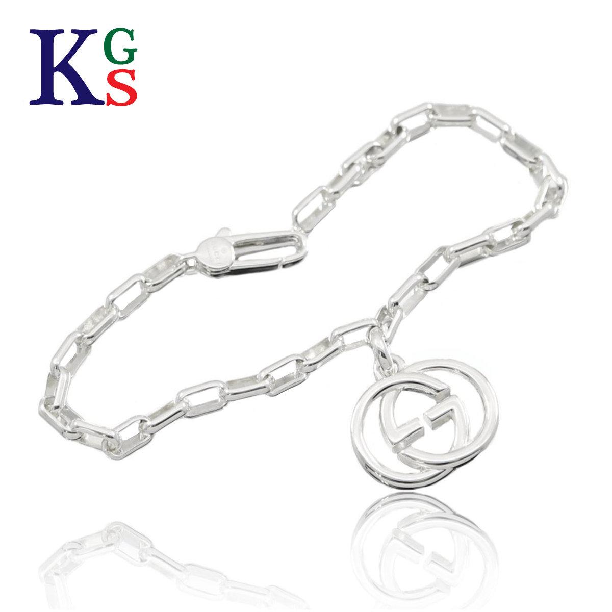 d76cc834d karyon: Gucci /GUCCI Lady's jewelry jewelry double GG interlocking grip G  charm bracelet Ag925 295711 | Rakuten Global Market