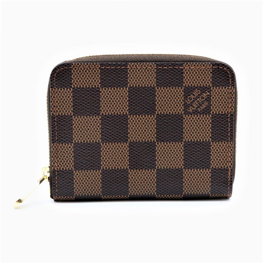 【新古品】ルイヴィトン/Louis Vuitton レディース ダミエ ジッピーコインパース N63070 エベヌ コインケース カードケース ブラウン