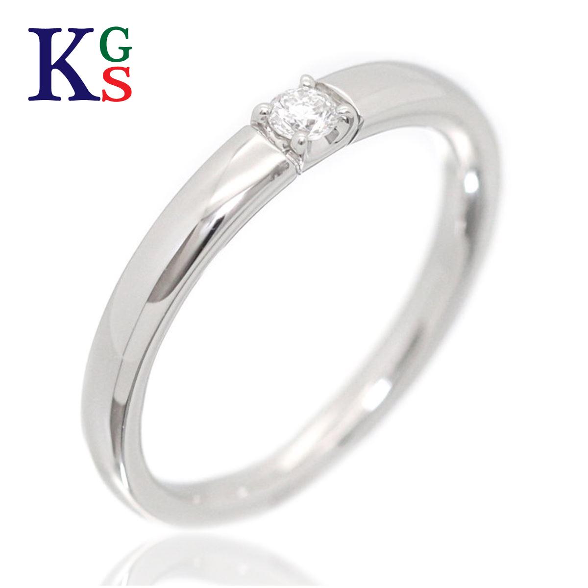 【ギフト品質】【名入れ】ヨンドシー/4°C レディース ジュエリー パーフェクトプラチナ 1Pダイヤリング/指輪 プラチナ Pt950