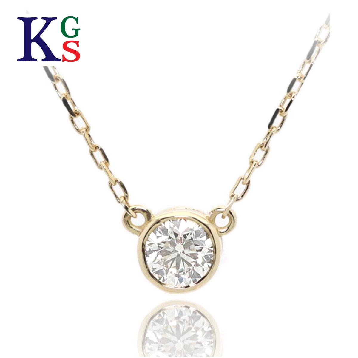 【ギフト品質】AHKAH / アーカー レディース ジュエリー ジェーン ネックレス イエローゴールド K18YG 1Pダイヤモンド 0.05ct