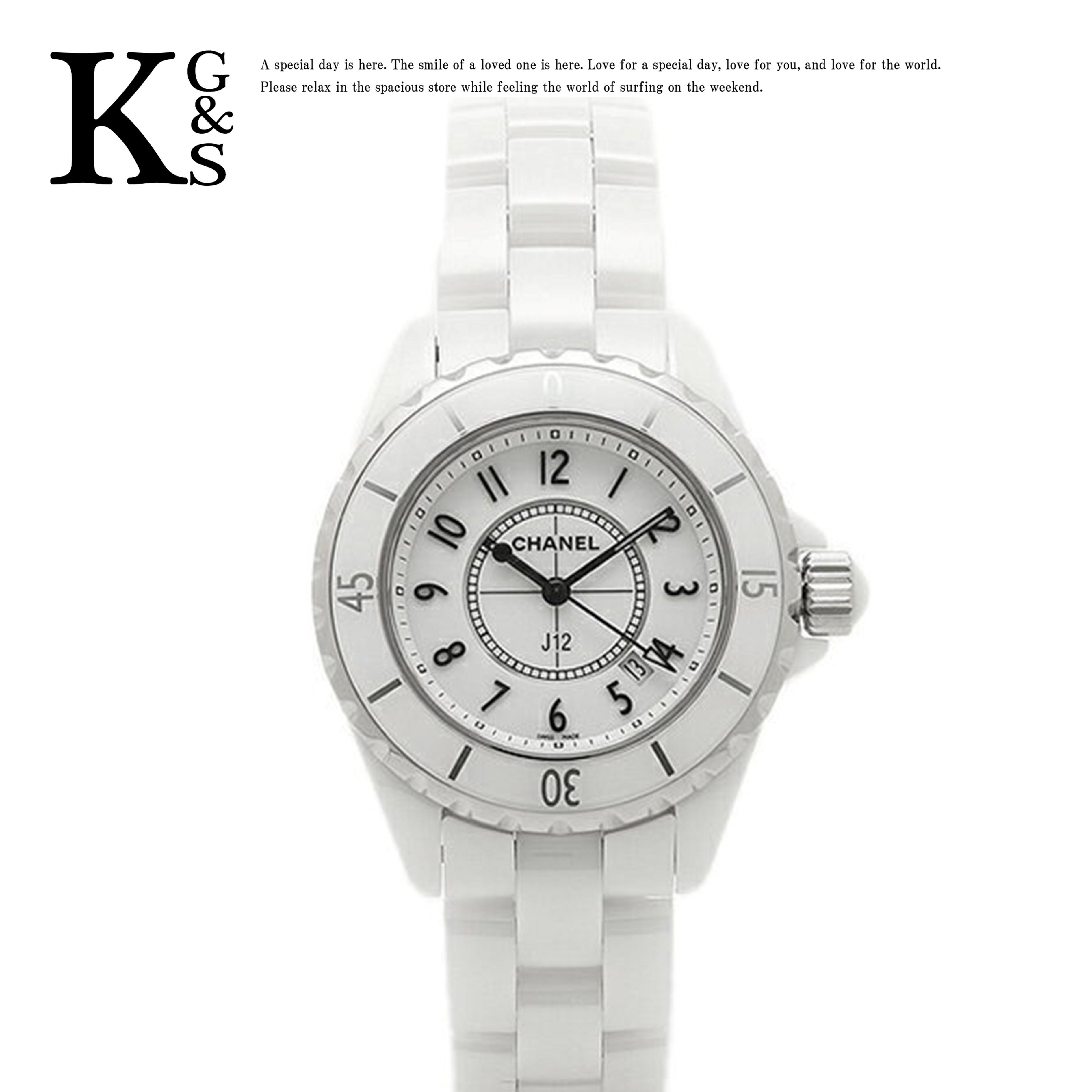 【ギフト品質】シャネル/CHANEL レディース J12 33mm 腕時計 ホワイト セラミック クオーツ H0968