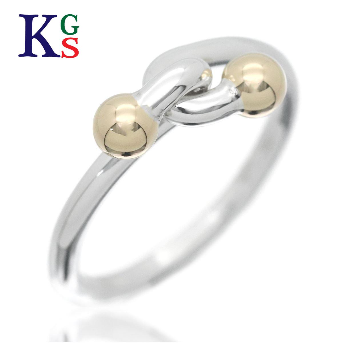 【ギフト品質】【名入れ】ティファニー/Tiffany&co レディース ジュエリー ツイリー ワイヤー コンビ リング/指輪 イエローゴールド×シルバー K18YG× Ag925