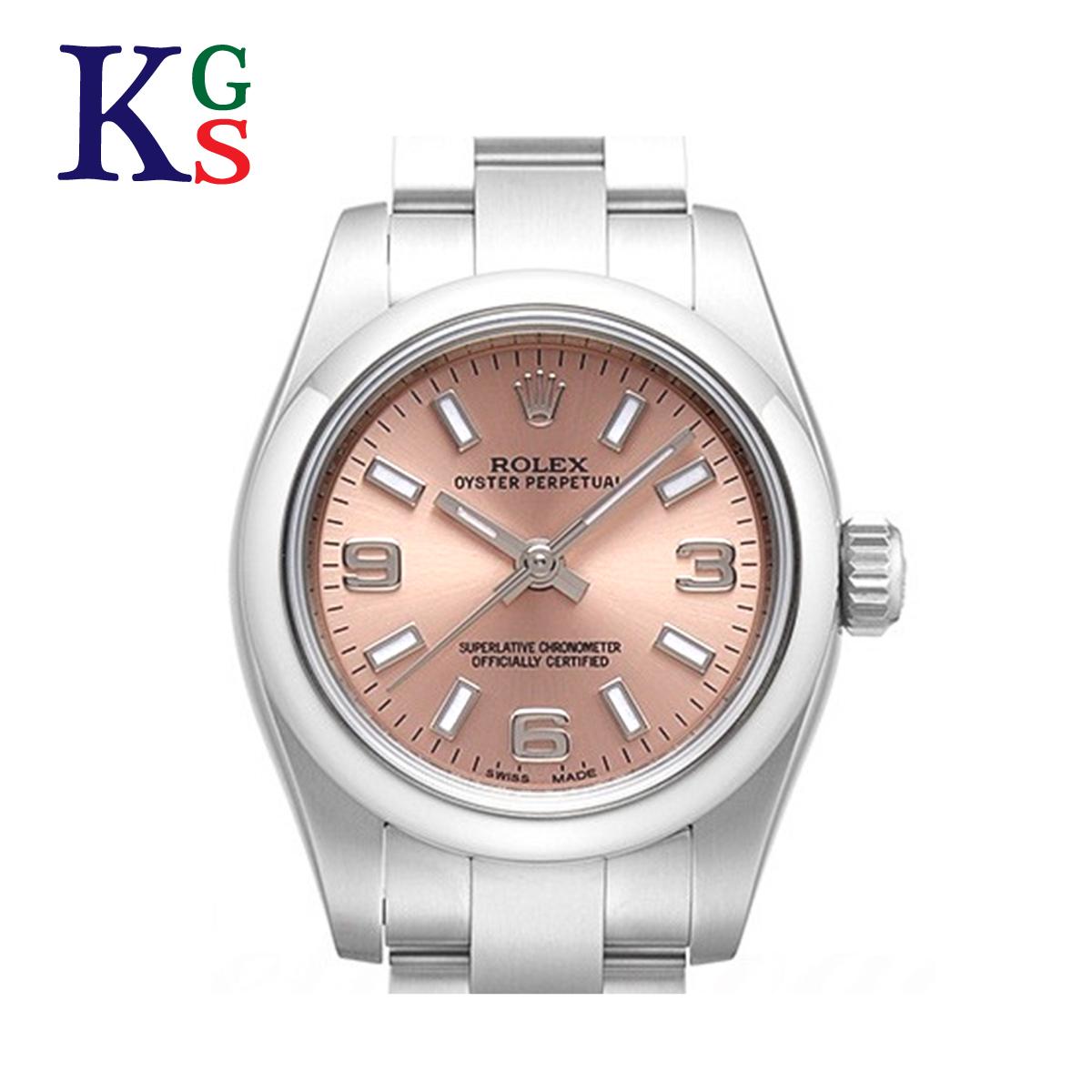 【ギフト品質】ロレックス ROLEX オイスターパーペチュアル ピンク文字盤 レディース 腕時計 ルーレット刻印 自動巻き 176200