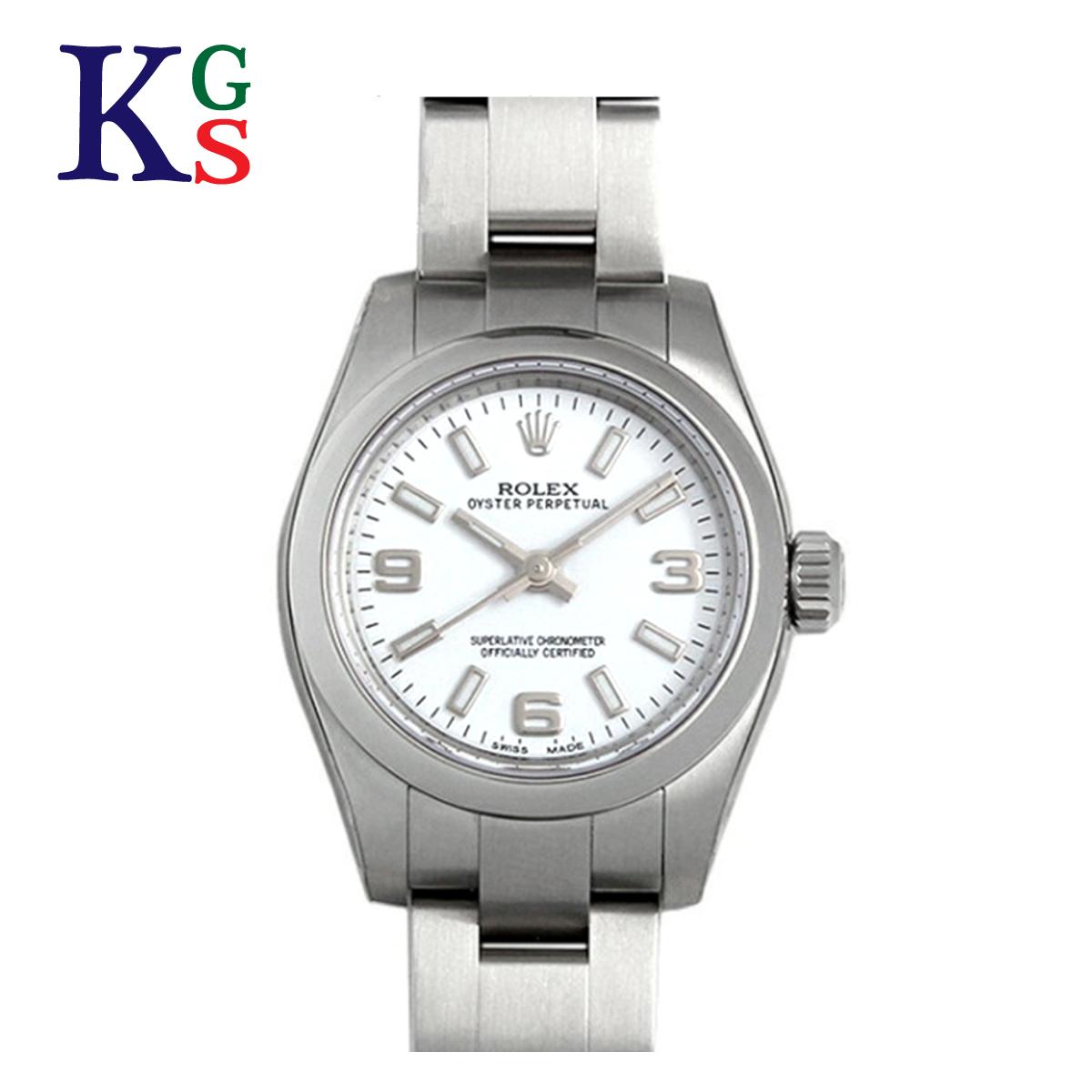 【ギフト品質】ロレックス ROLEX オイスターパーペチュアル ホワイト文字盤 レディース 腕時計 ルーレット刻印 自動巻き 176200