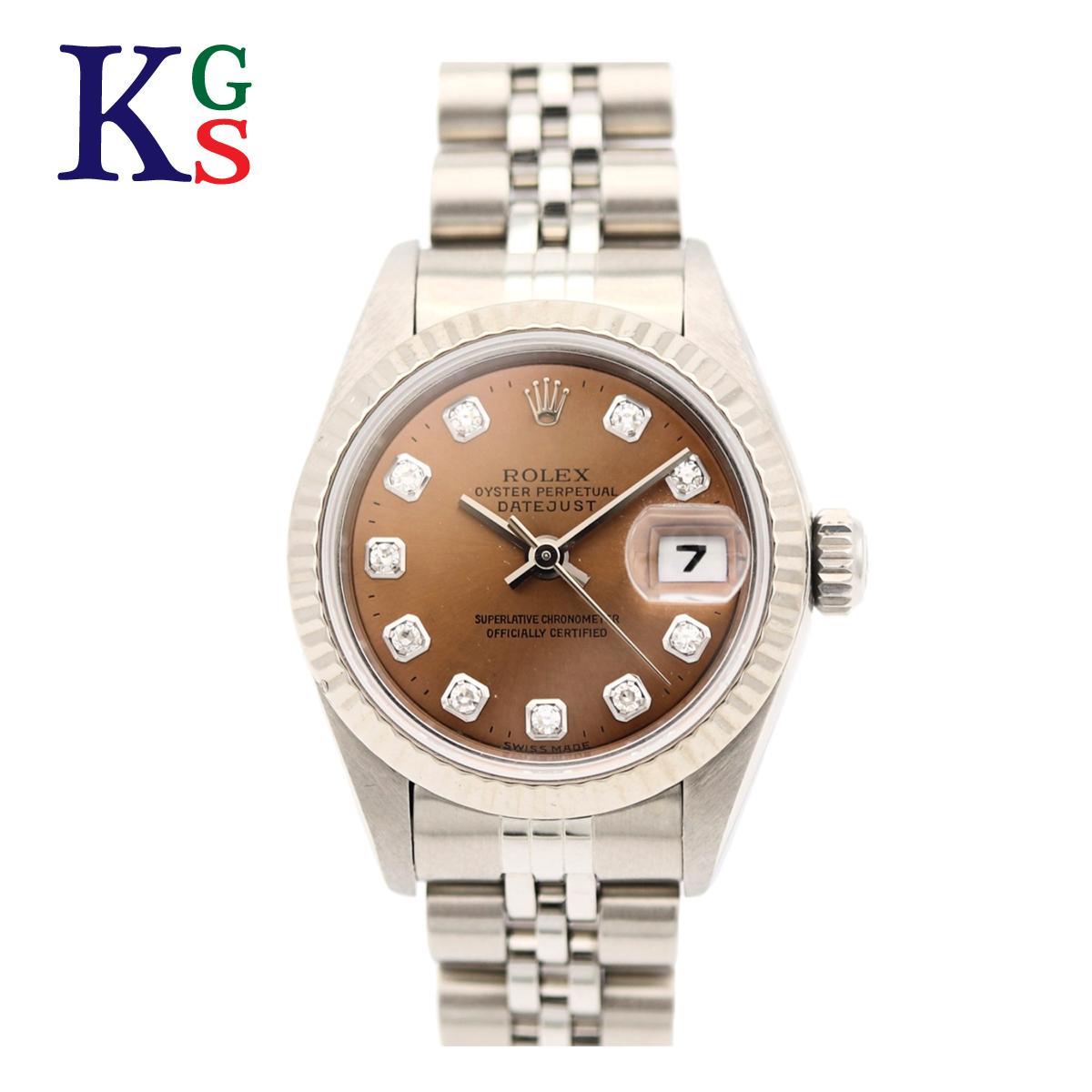 【ギフト品質】ロレックス/ROLEX レディース 腕時計 デイトジャスト シルバーxホワイトゴールド コンビ 新10Pダイヤモンド ステンレススチールxK18WG 69174G