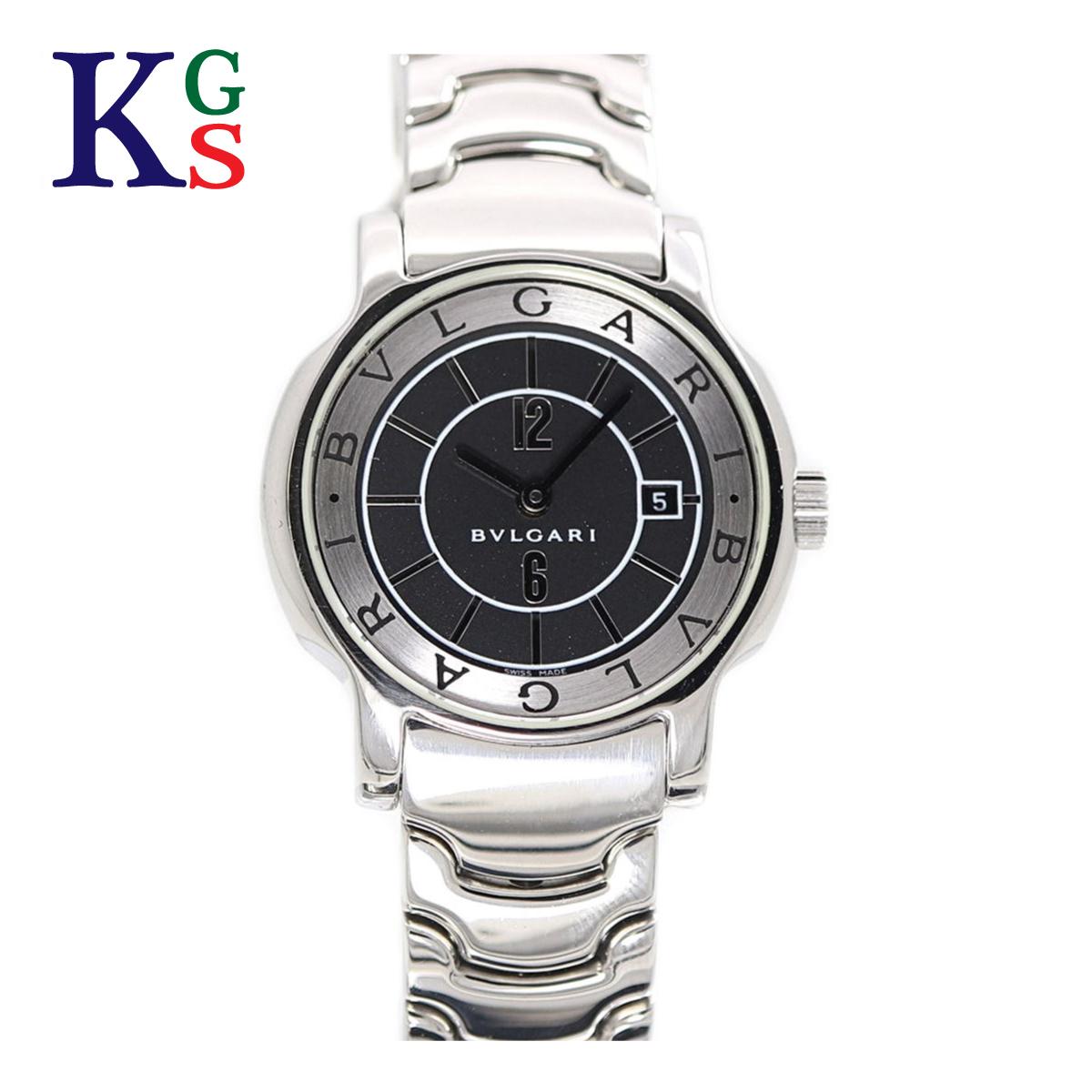 【ギフト品質】ブルガリ/BVLGARI レディース 腕時計 ソロテンポ 黒文字盤 シルバーインデックス ステンレススチール クオーツ ST29S