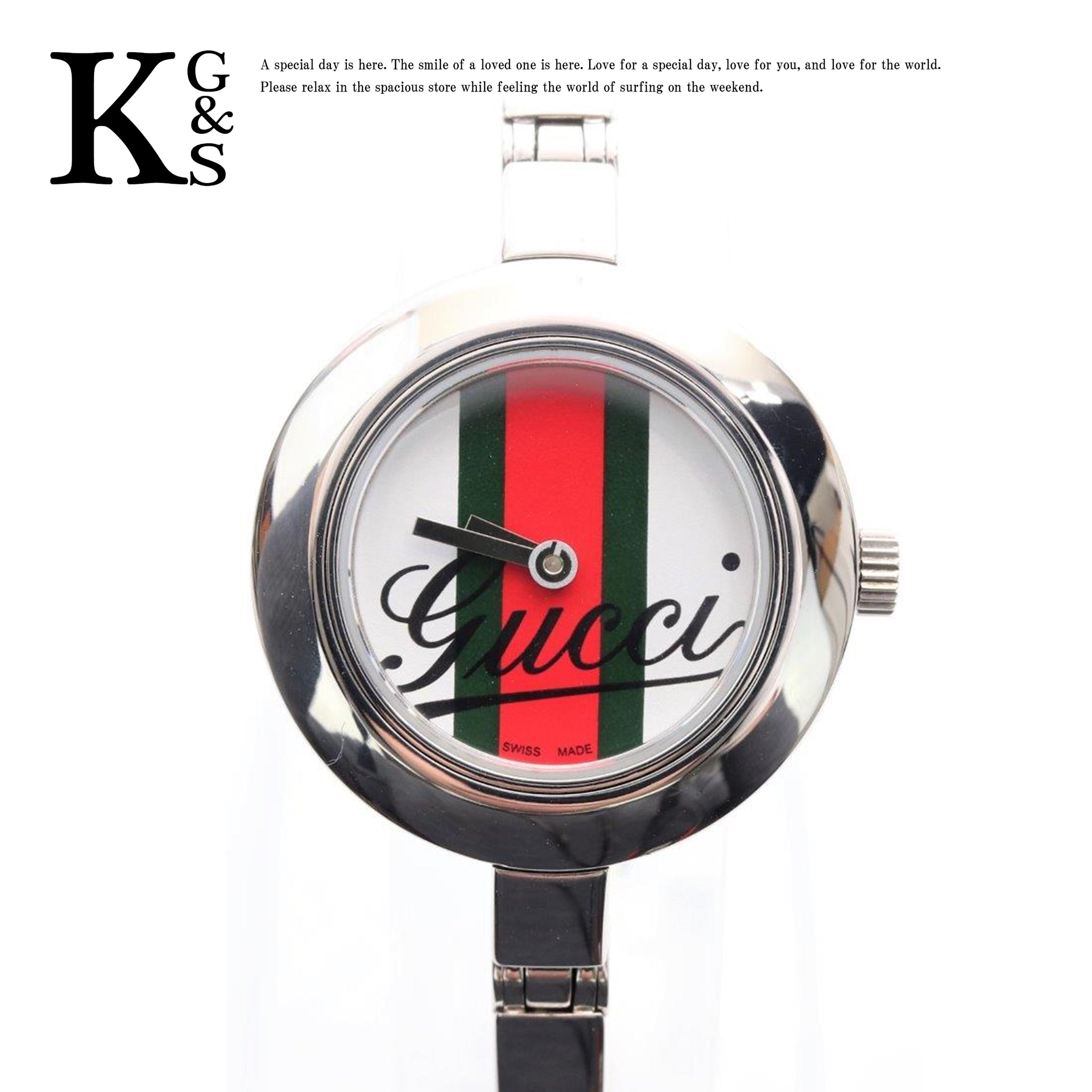 【ギフト品質】グッチ/GUCCI レディース バングルウォッチ 腕時計 シルバー ステンレススチール クオーツ 105