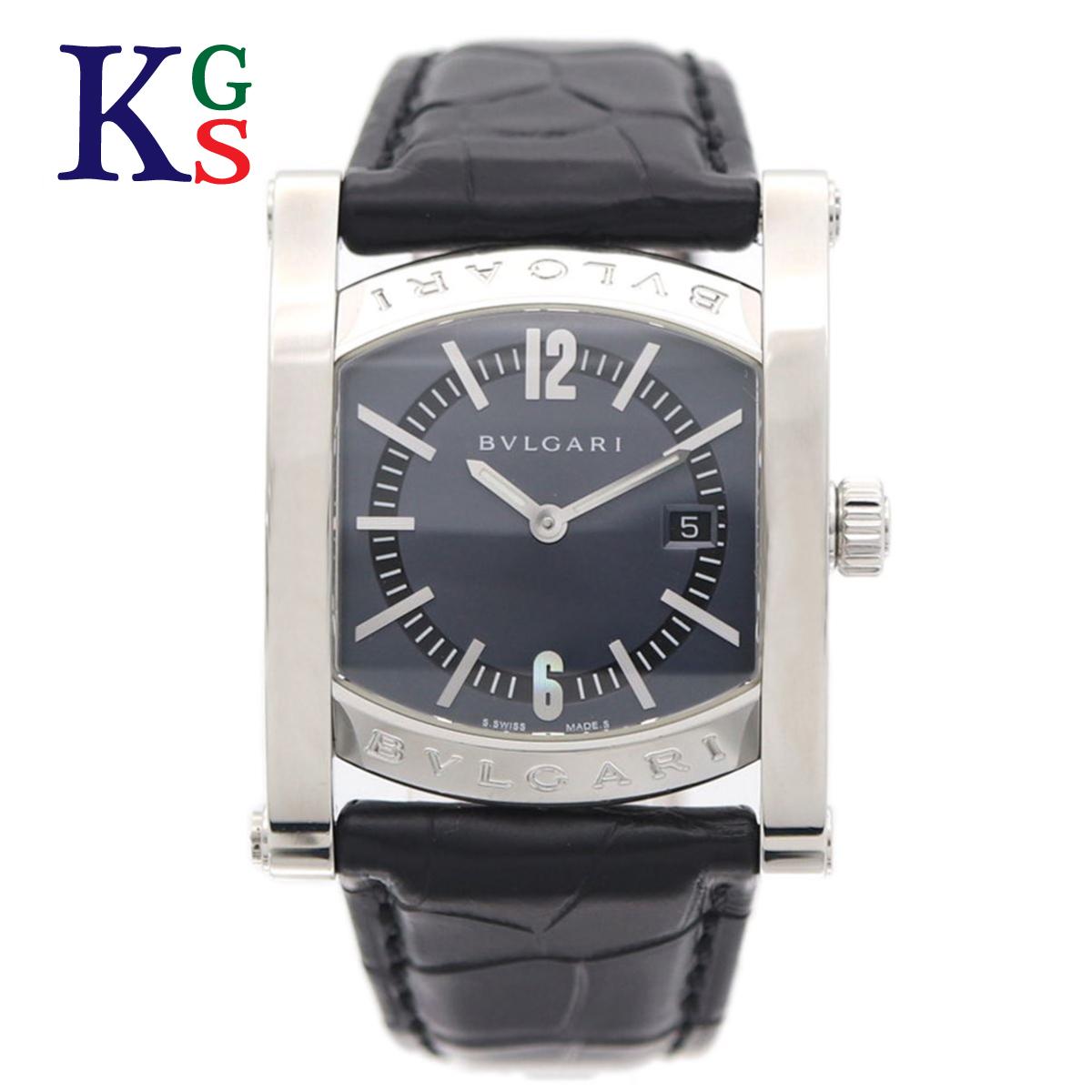 【ギフト品質】ブルガリ/BVLGARI レディース メンズ ユニセックス アショーマ 腕時計 クオーツ ステンレス×アリゲーターベルト AA39S