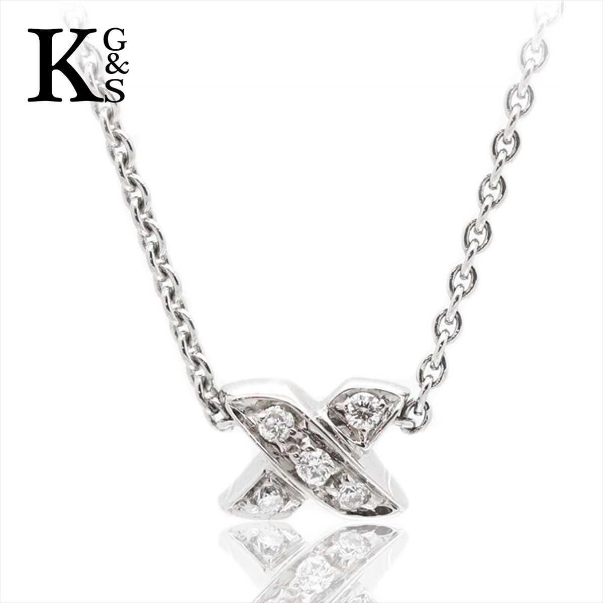 【ギフト品質】ティファニー/Tiffany&co グラフィティX(キス) ネックレス Pt950 5Pダイヤ レディース プラチナ