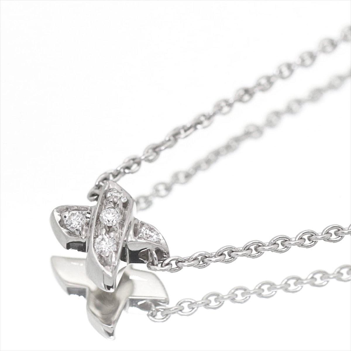 【新古品】ティファニー/Tiffany&co グラフィティ X(キス) ネックレス Pt950 5Pダイヤ レディース プラチナ