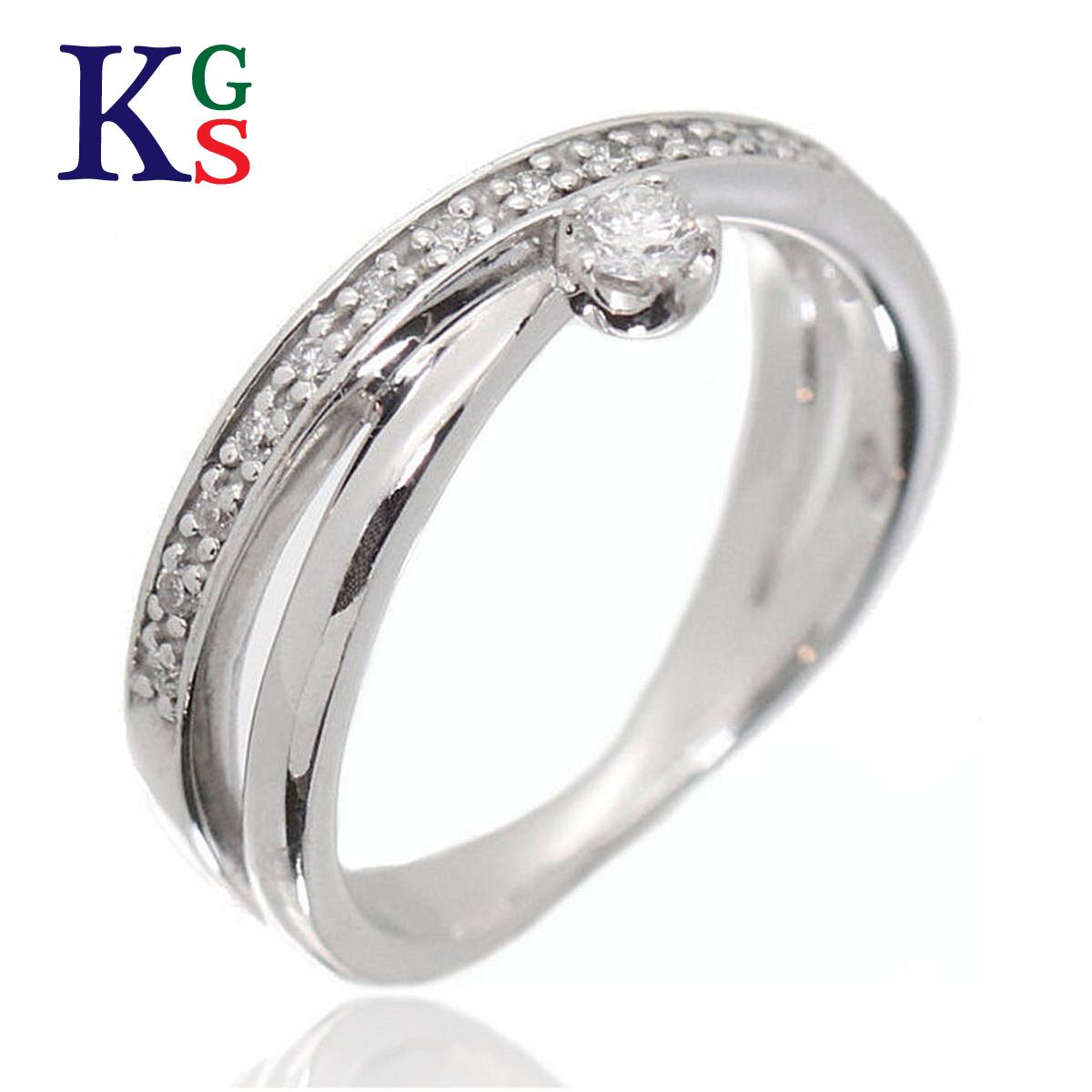 【ギフト品質】【名入れ】ヨンドシー/4°C レディース エタニティリング 1Pダイヤ(脇石16石) K18WG ホワイトゴールド 指輪
