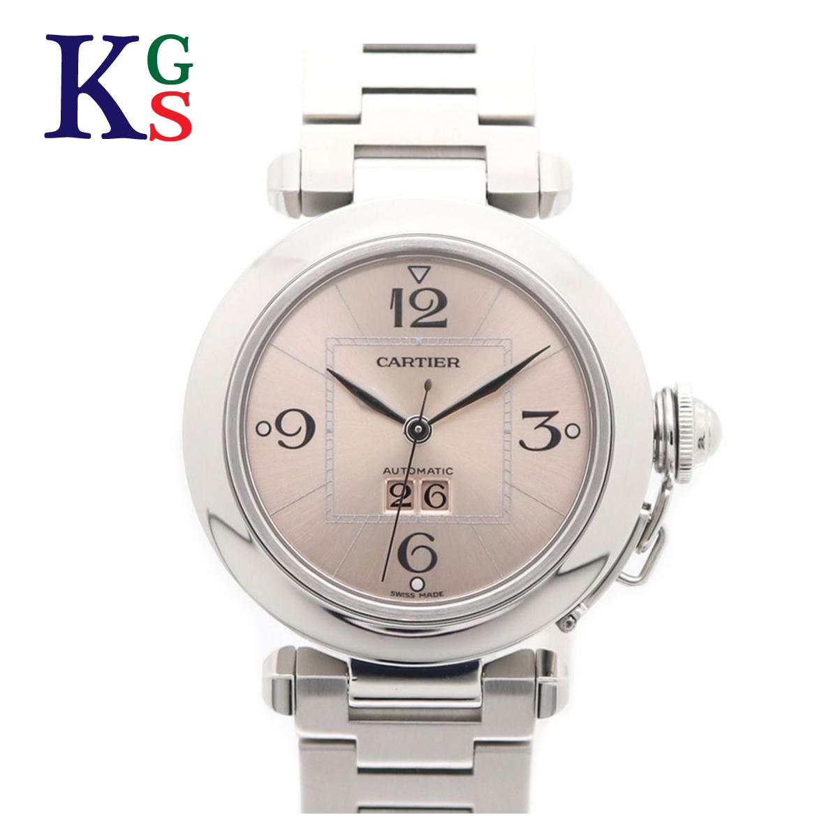 【ギフト品質】カルティエ/Cartier レディース 腕時計 パシャC ビッグデイト ピンク文字盤 ステンレススチール 自動巻き オートマチック W31058M7