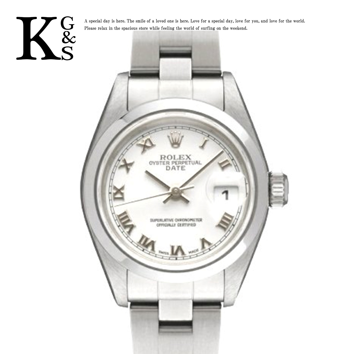 【ギフト品質】ロレックス/ROLEX レディース 腕時計 オイスターパーペチュアル デイト ホワイト文字盤 ローマン インデックス ステンレススチール 79160