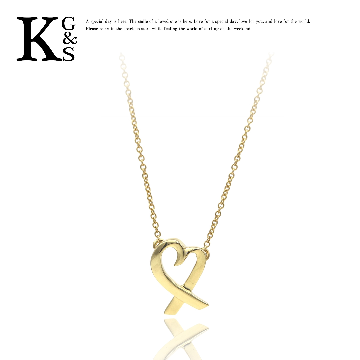 【ギフト品質】ティファニー/Tiffany&co レディース ジュエリー ラビングハート ネックレス K18YG イエローゴールド