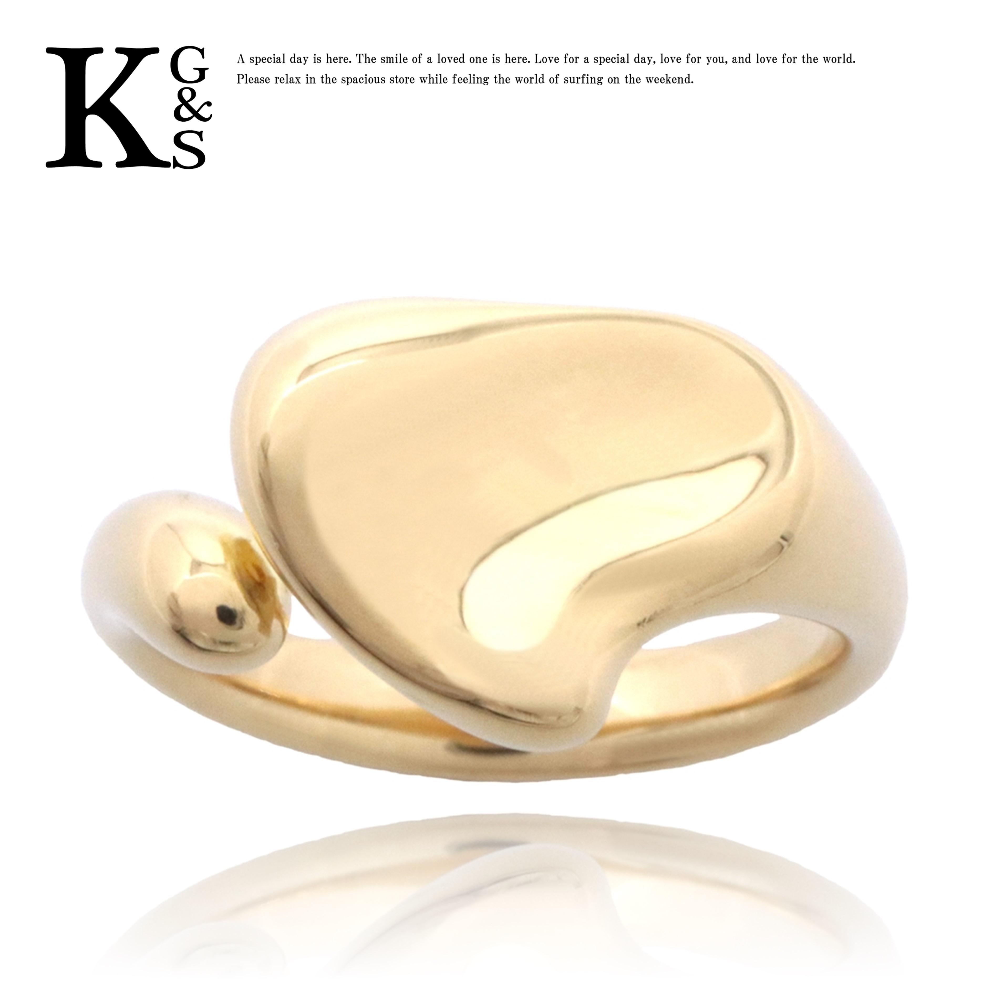 【ギフト品質】【名入れ】【4号~16号】ティファニー/Tiffany&co レディース ジュエリー リング/指輪 エルサ ペレッティ ビーン リング K18YG イエローゴールド