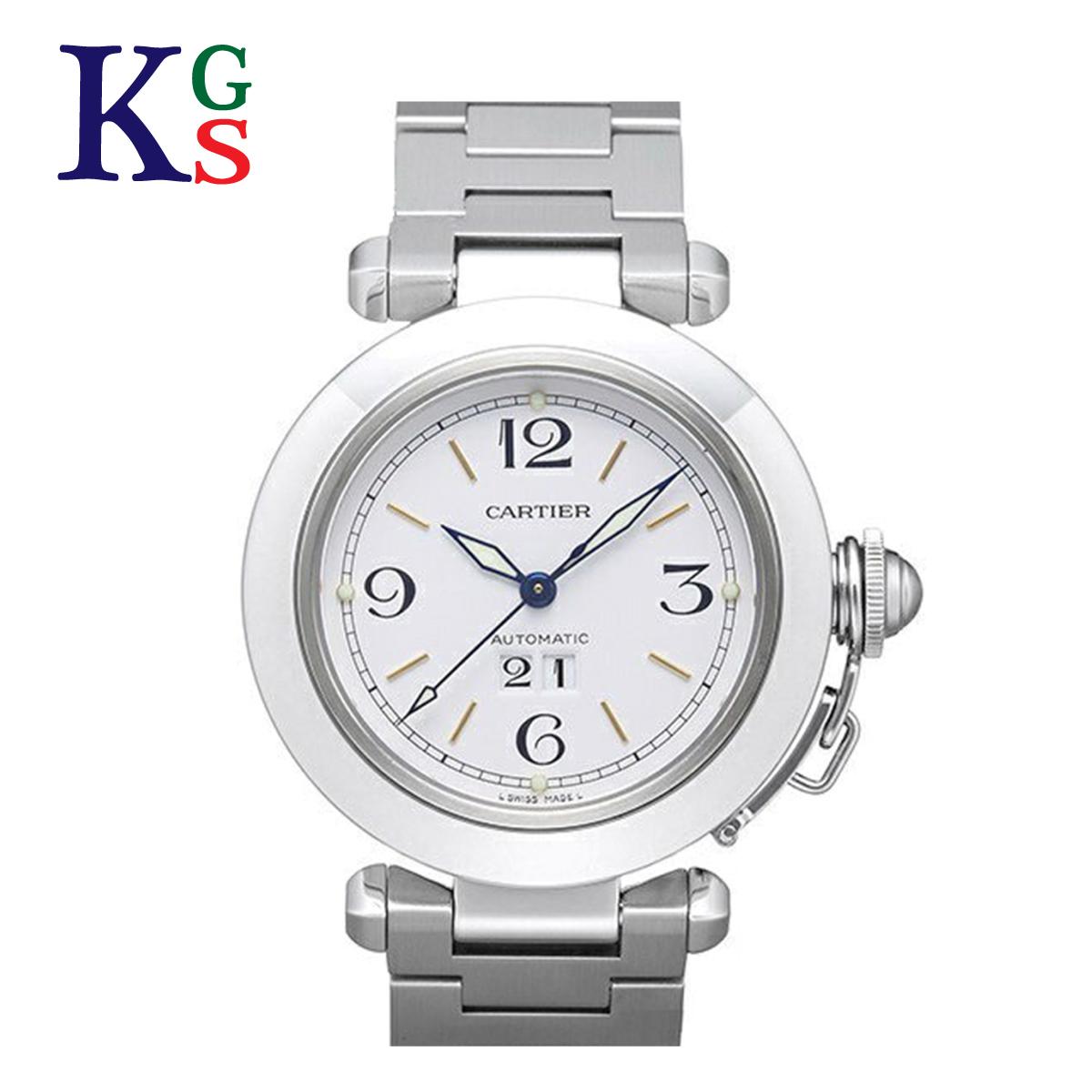【ギフト品質】カルティエ/Cartier レディース 腕時計 パシャC ビッグデイト ホワイト文字盤 W31044M7 オートマチック 自動巻き ステンレススチール 旧タイプ
