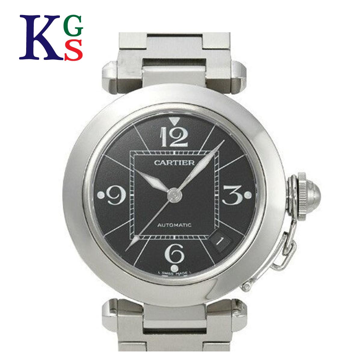 【ギフト品質】カルティエ/Cartier ユニセックス 腕時計 パシャC スモールデイト ブラック文字盤 W31076M7 オートマチック 自動巻き ステンレススチール