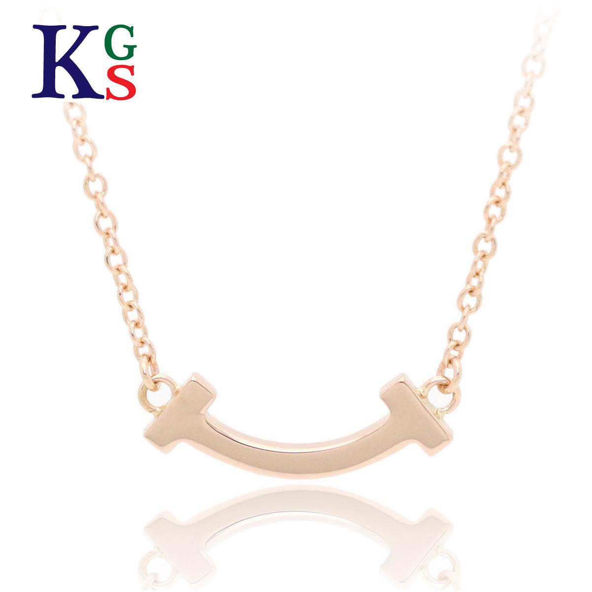【ギフト品質】ティファニー/Tiffany&co レディース Tスマイル ペンダント ネックレス マイクロ K18RG ローズゴールド