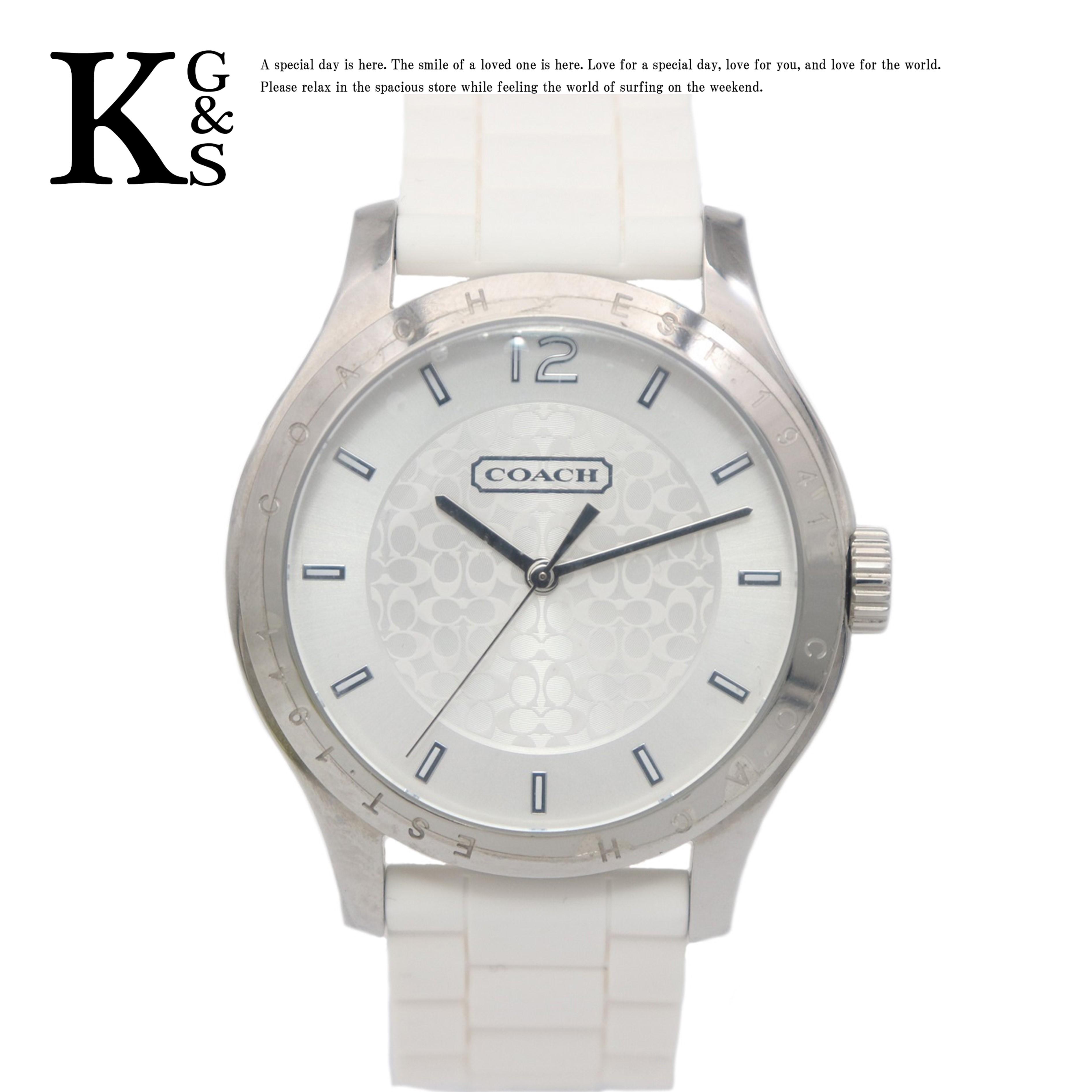 【新品】コーチ/COACH メンズ 腕時計 クオーツ ステンレススチール×ラバーベルト CA.69.3.14.0706