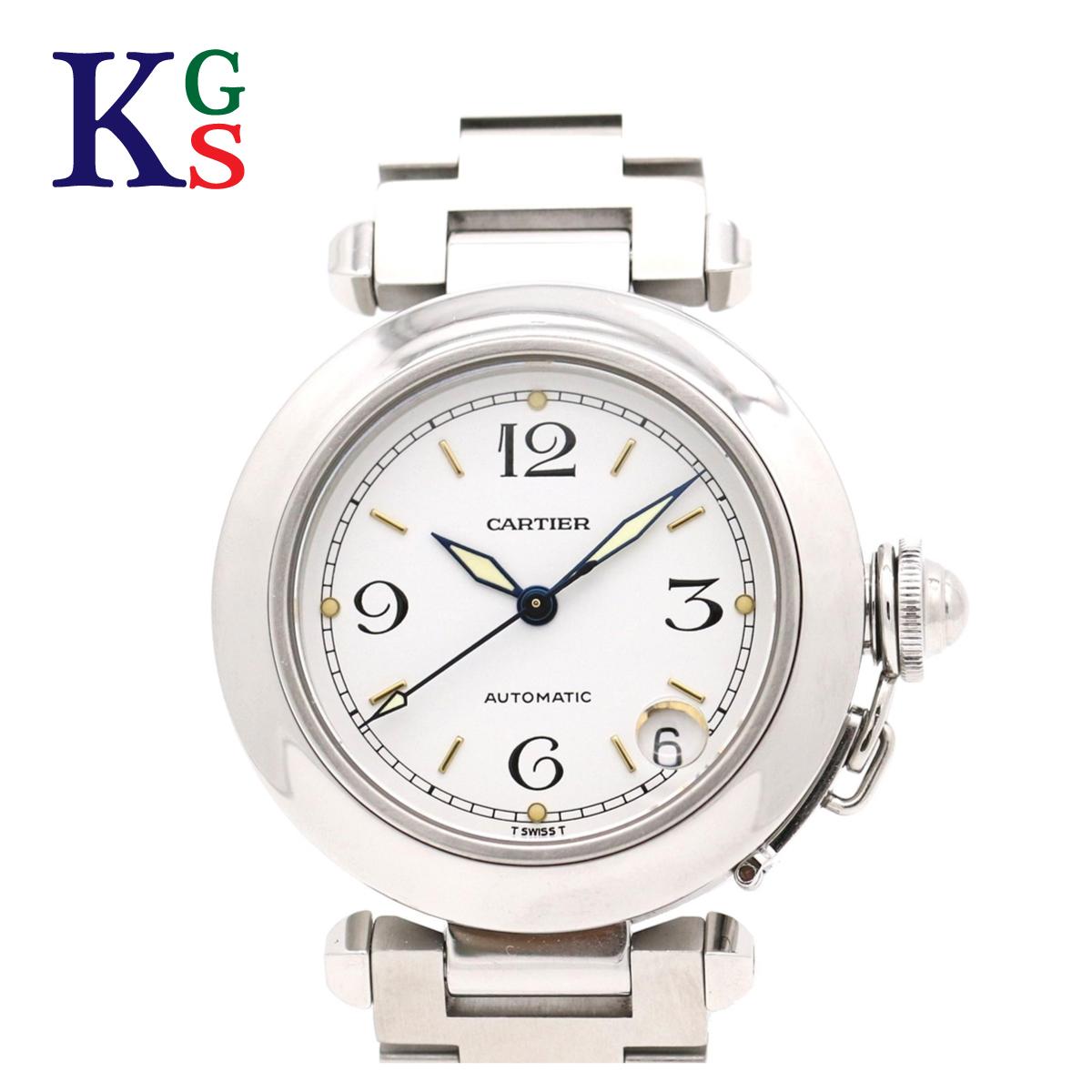 【ギフト品質】カルティエ/Cartier レディース メンズ 腕時計 パシャC スモールデイト ホワイト文字盤 自動巻き W31015M7