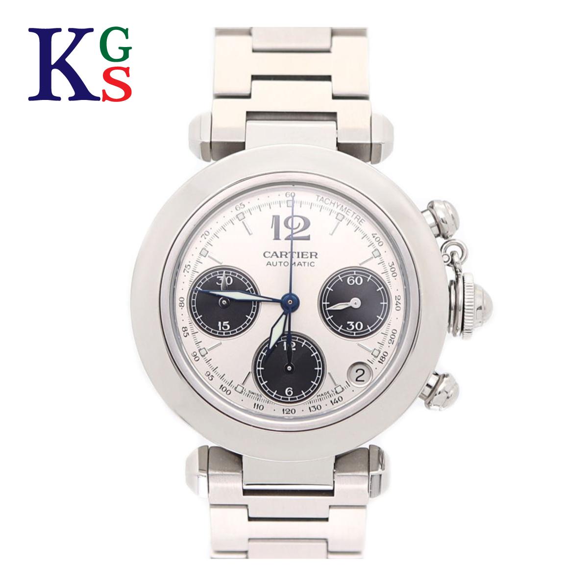 【ギフト品質】カルティエ/Cartier メンズ 腕時計 パシャC クロノグラフ シルバー文字盤 自動巻き W31048M7