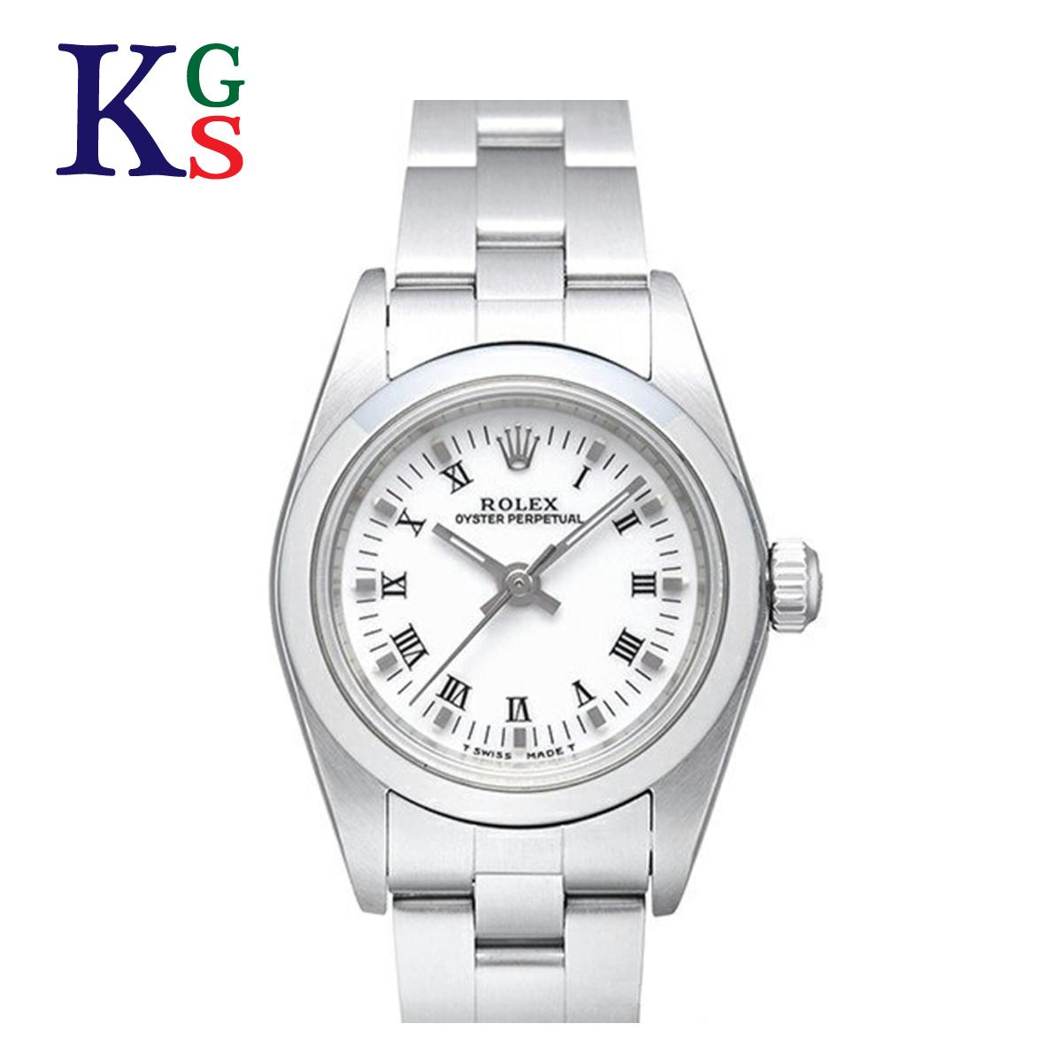【ギフト品質】ロレックス/ROLEX レディース 腕時計 オイスターパーペチュアル ローマンインデックス ホワイト文字盤 シルバー 76080 自動巻き