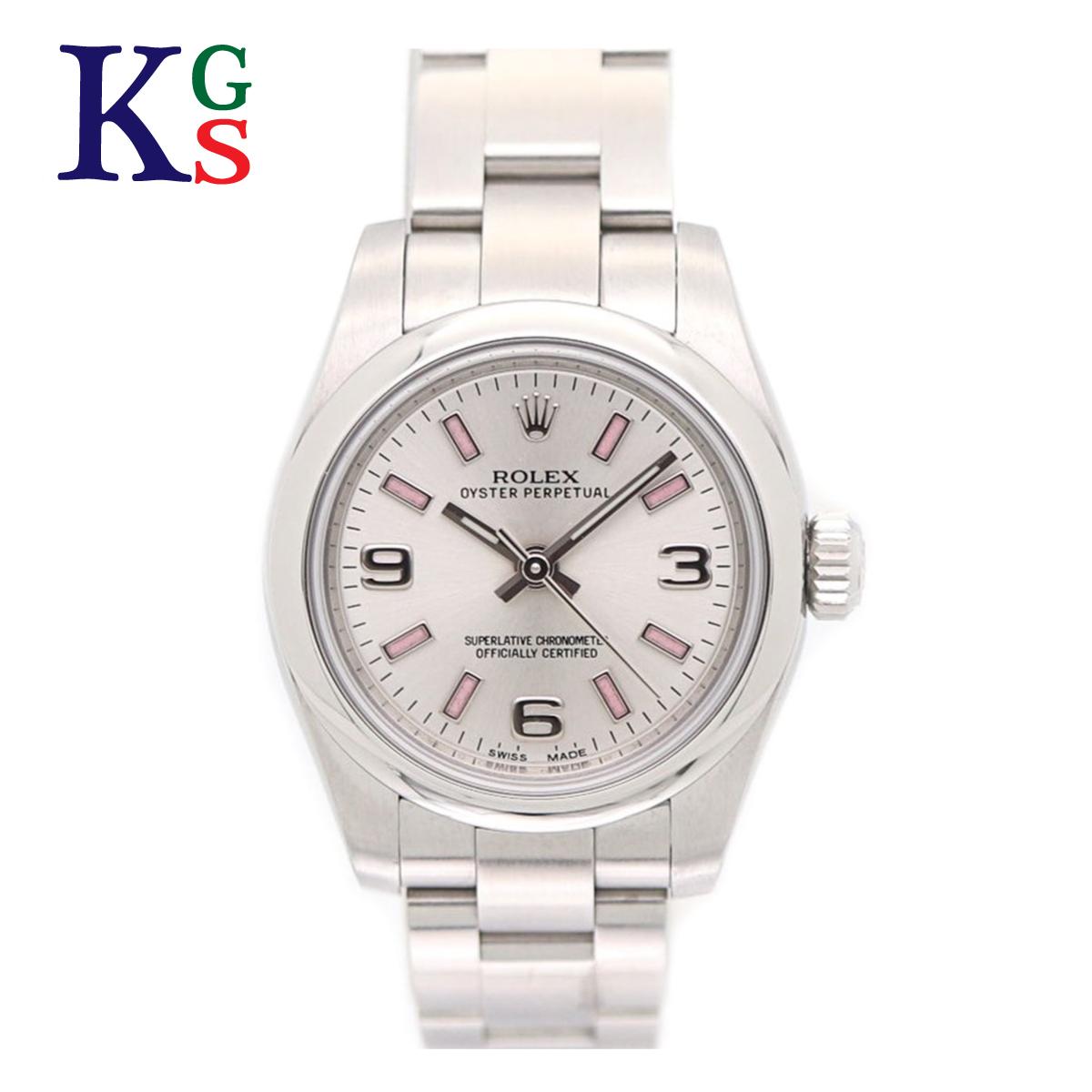 【ギフト品質】ロレックス/ROLEX レディース 腕時計 オイスターパーペチュアル シルバー文字盤 ピンクバー ルーレット刻印 176200 自動巻き