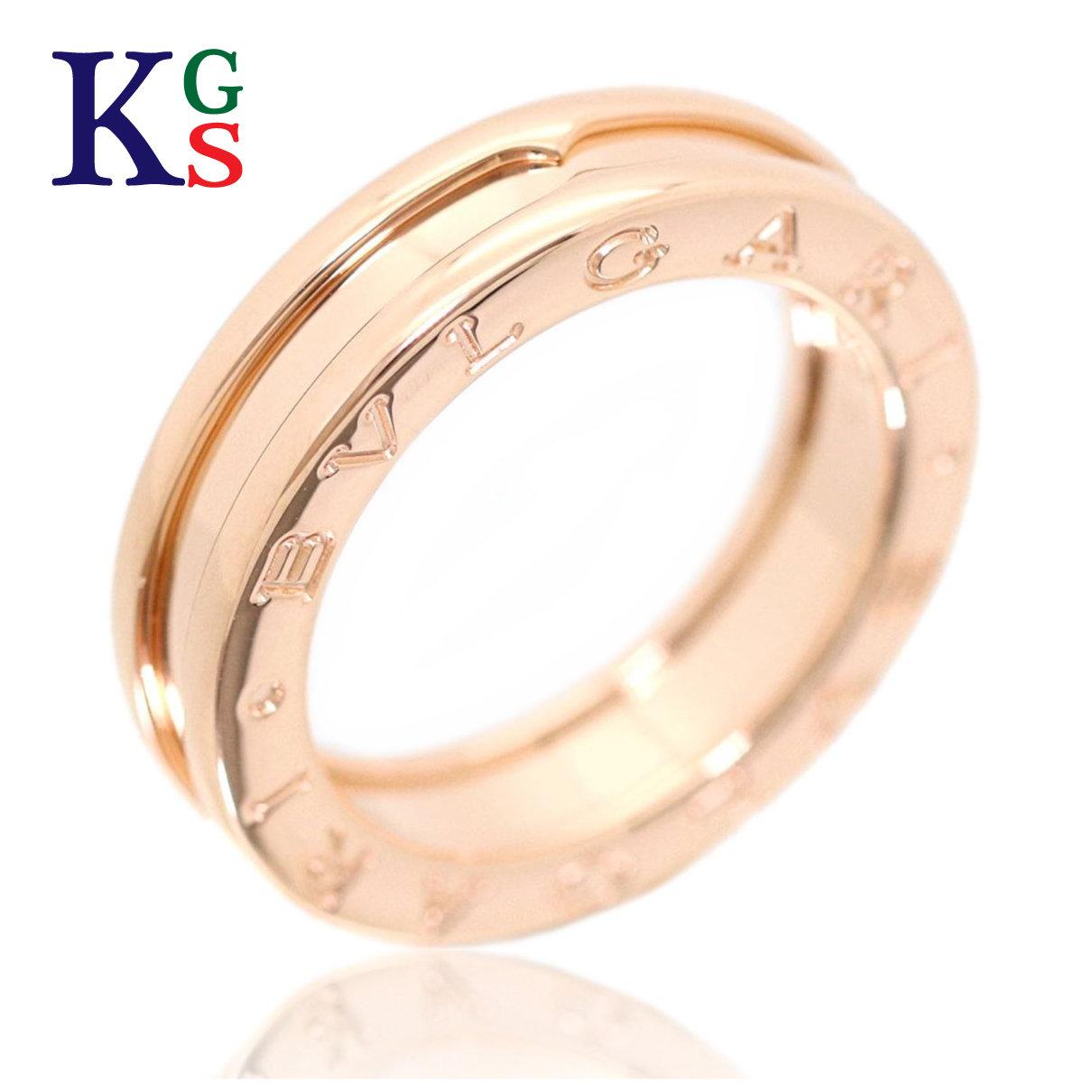 【ギフト品質】【名入れ】【5号~23号】ブルガリ B.zero1 ビーゼロワン リング / 指輪 750 K18PG ピンクゴールド レディース