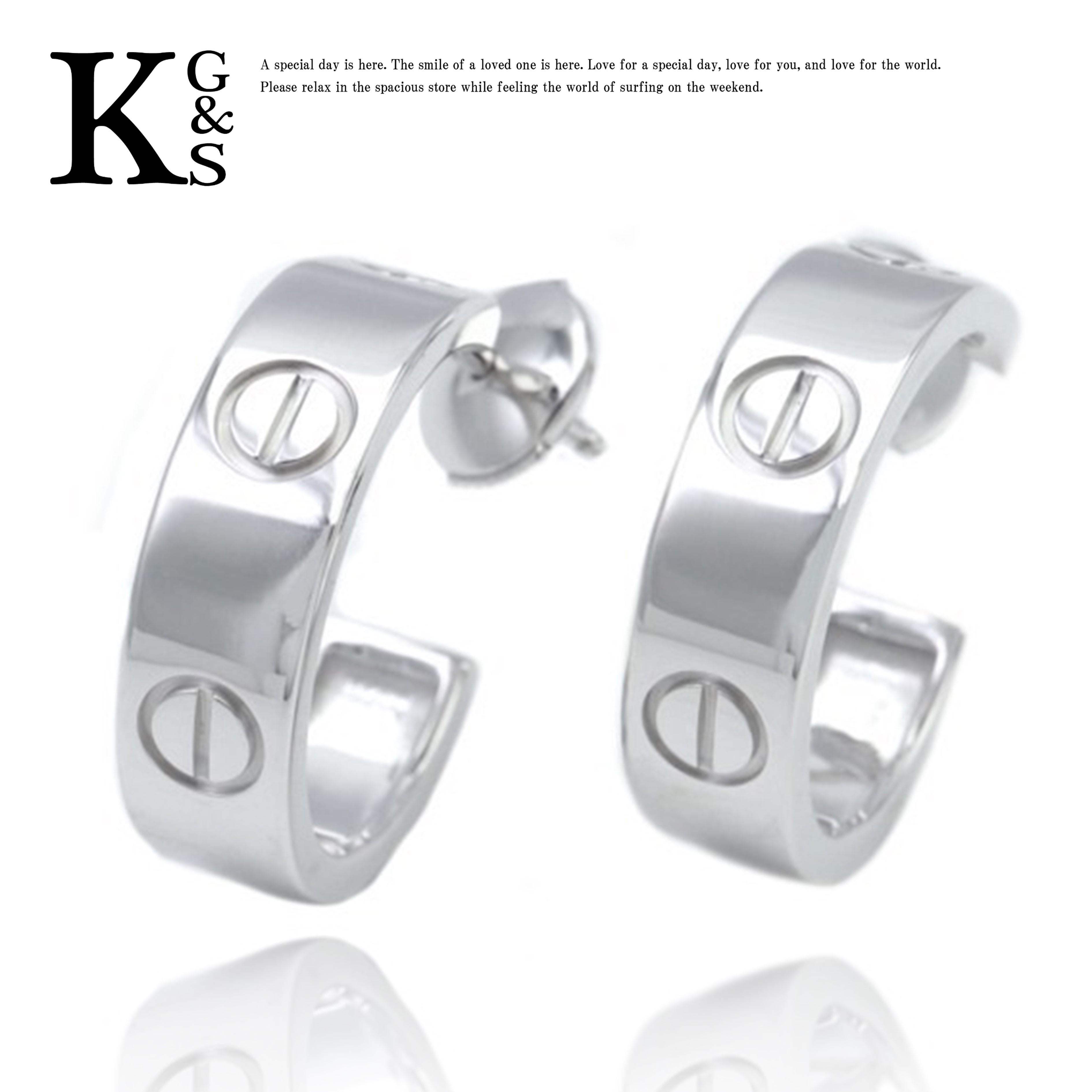 【ギフト品質】カルティエ/Cartier レディース ジュエリー LOVE ラブピアス K18WG ホワイトゴールド