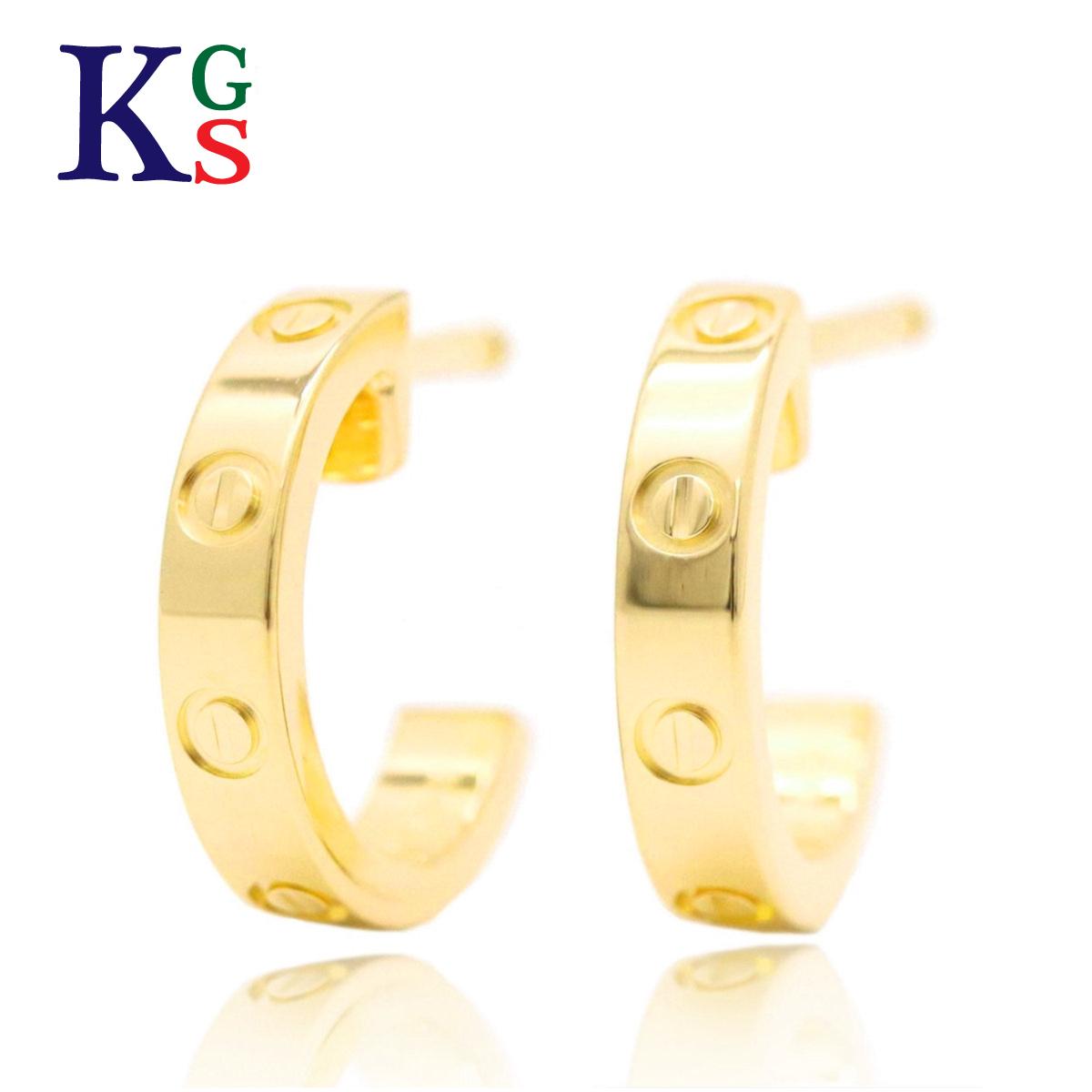 【ギフト品質】カルティエ/Cartier レディース ジュエリー LOVE ラブピアス K18YG イエローゴールド
