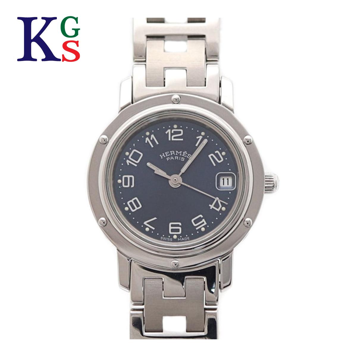 【ギフト品質】エルメス/Hermes レディース 腕時計 クリッパー ネイビー文字盤 クオーツ 電池式 ステンレススチール CL4.210