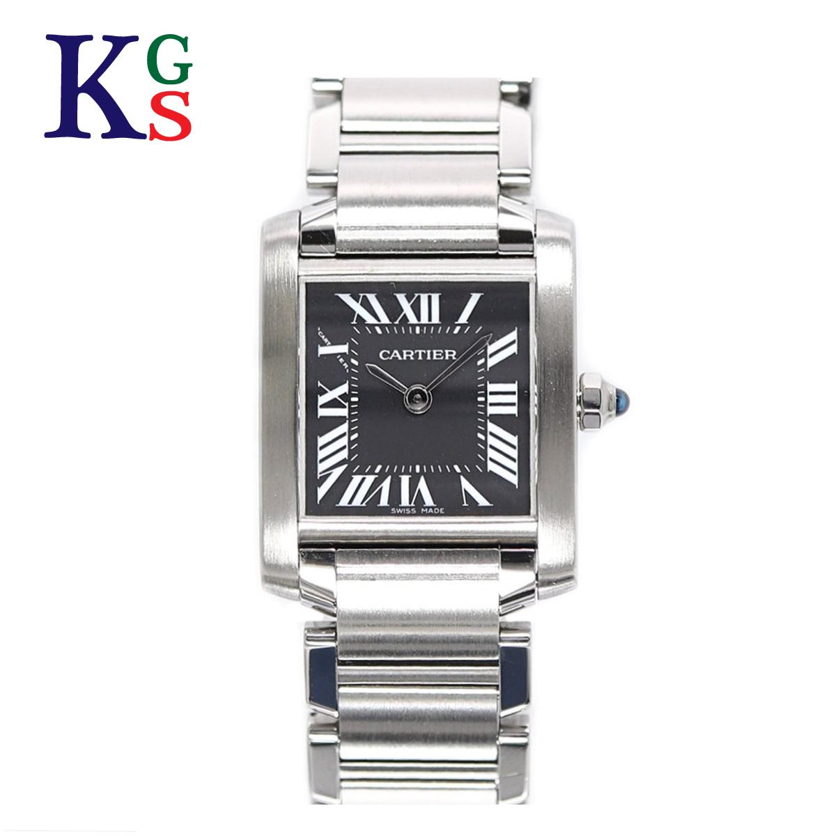 【ギフト品質】カルティエ/Cartier レディース 腕時計 タンクフランセーズSM ブラック文字盤 ステンレススチール W51026Q3