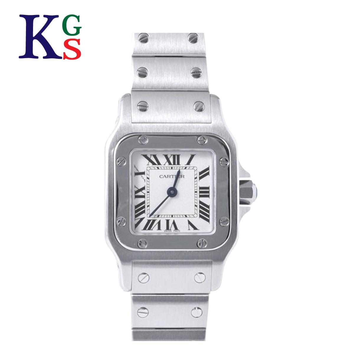 【ギフト品質】カルティエ/Cartier レディース 腕時計 サントスガルべSM ホワイト文字盤 ステンレススチール クオーツ W20056D6