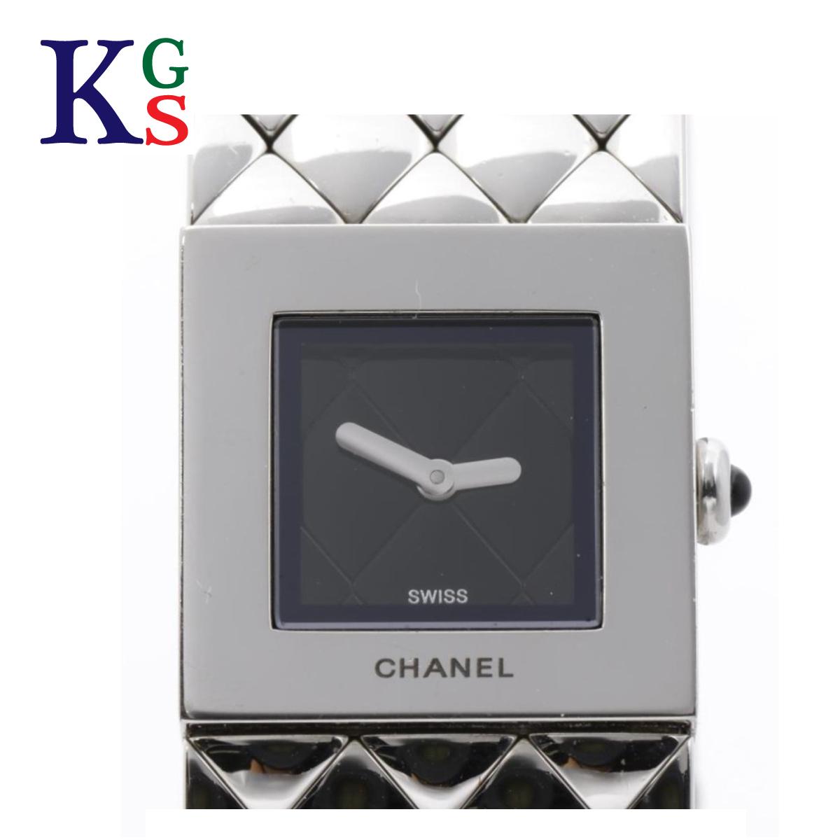 【ギフト品質】シャネル/CHANEL レディース 腕時計 マトラッセ 黒文字盤 ステンレススチール クオーツ H0009