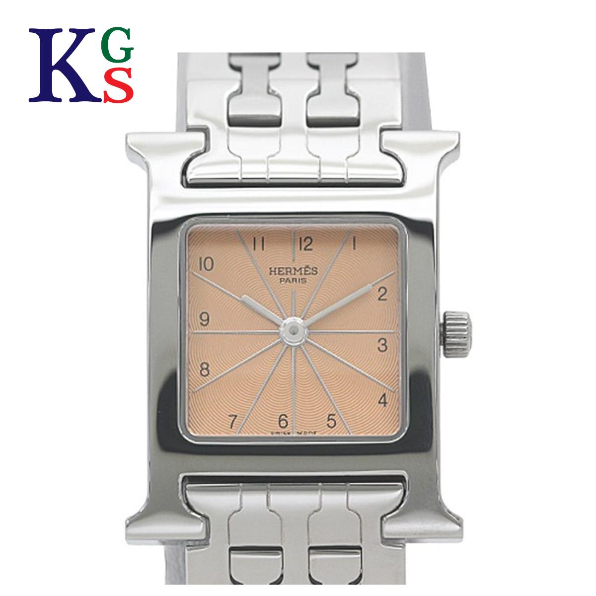 【ギフト品質】エルメス/Hermes レディース 腕時計 Hウォッチ ピンク文字盤 ステンレススチール クオーツ HH1.210