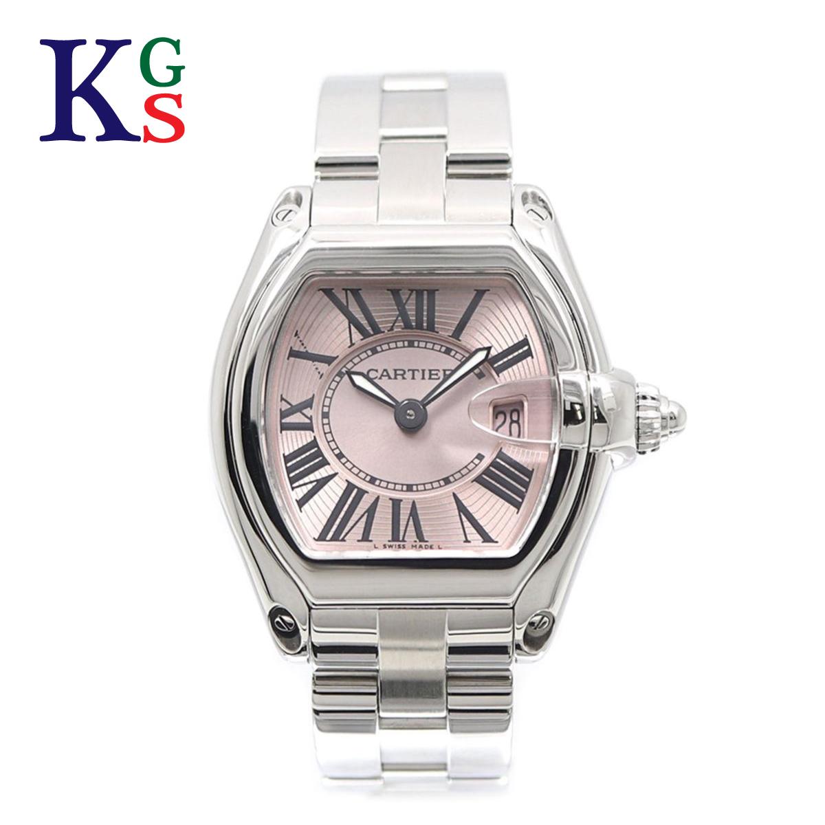 【ギフト品質】カルティエ/Cartier レディース 腕時計 ロードスターSM ピンク文字盤 ステンレススチール クオーツ W62017V3