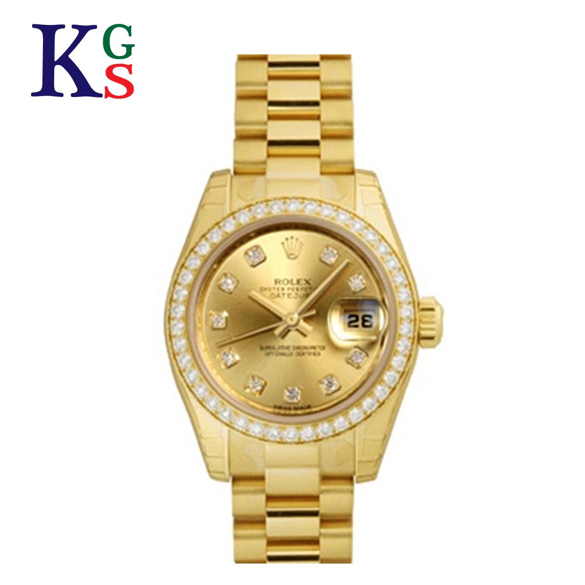【ギフト品質】ロレックス/ROLEX レディース 腕時計 デイトジャスト イエローゴールド K18YG 10Pダイヤ ベゼルダイヤ 自動巻き 金無垢 179138G