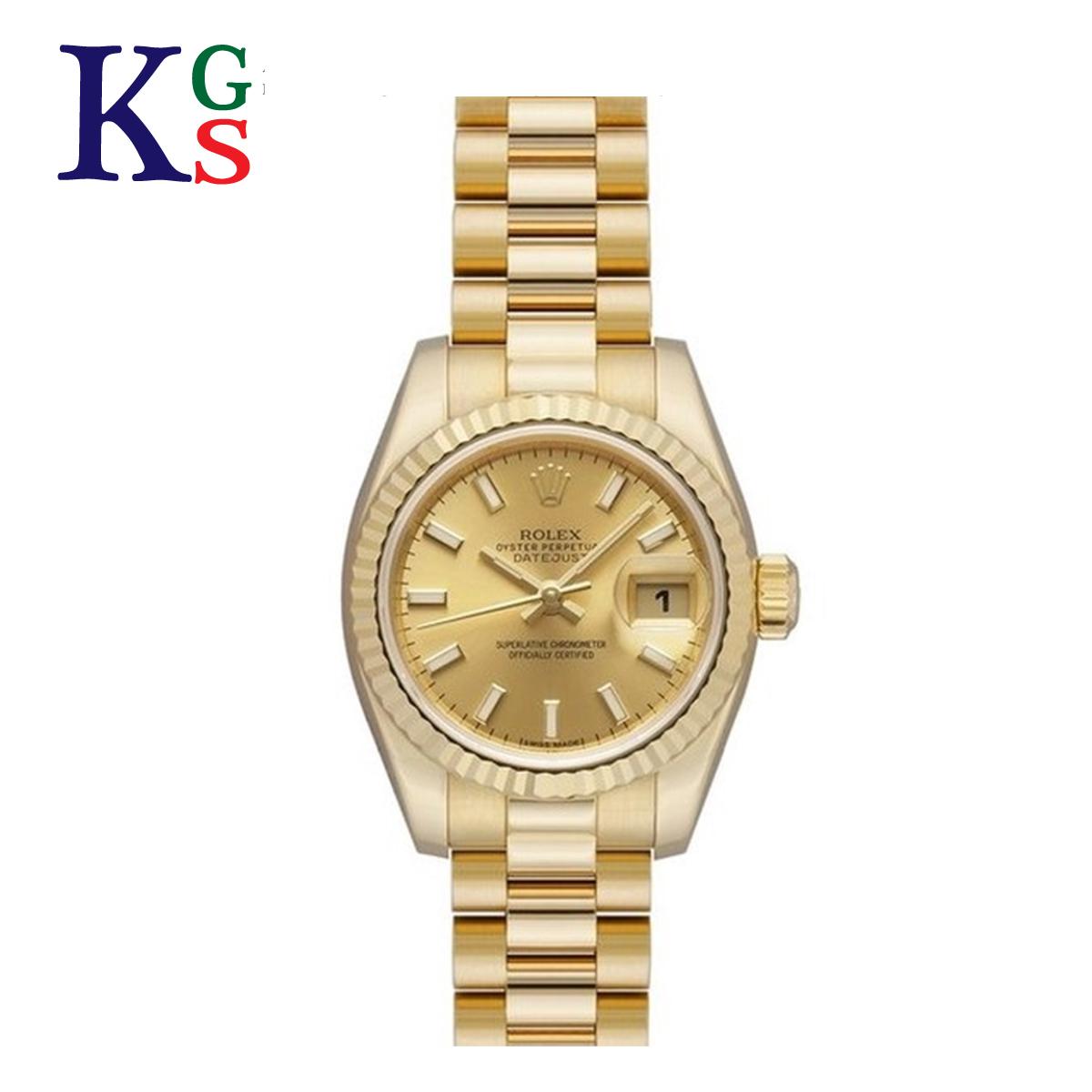 【ギフト品質】ロレックス/ROLEX レディース 腕時計 デイトジャスト イエローゴールド K18YG バーインデックス 自動巻き 金無垢 179178
