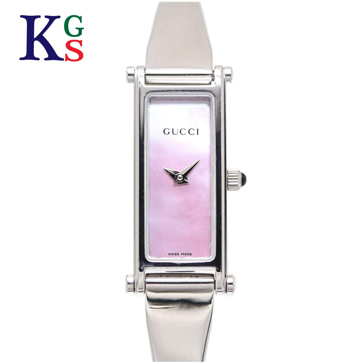 【ギフトランク】グッチ/GUCCI レディース 腕時計 バングルウォッチ シルバー×シルバー文字盤 ステンレススチール 1500L