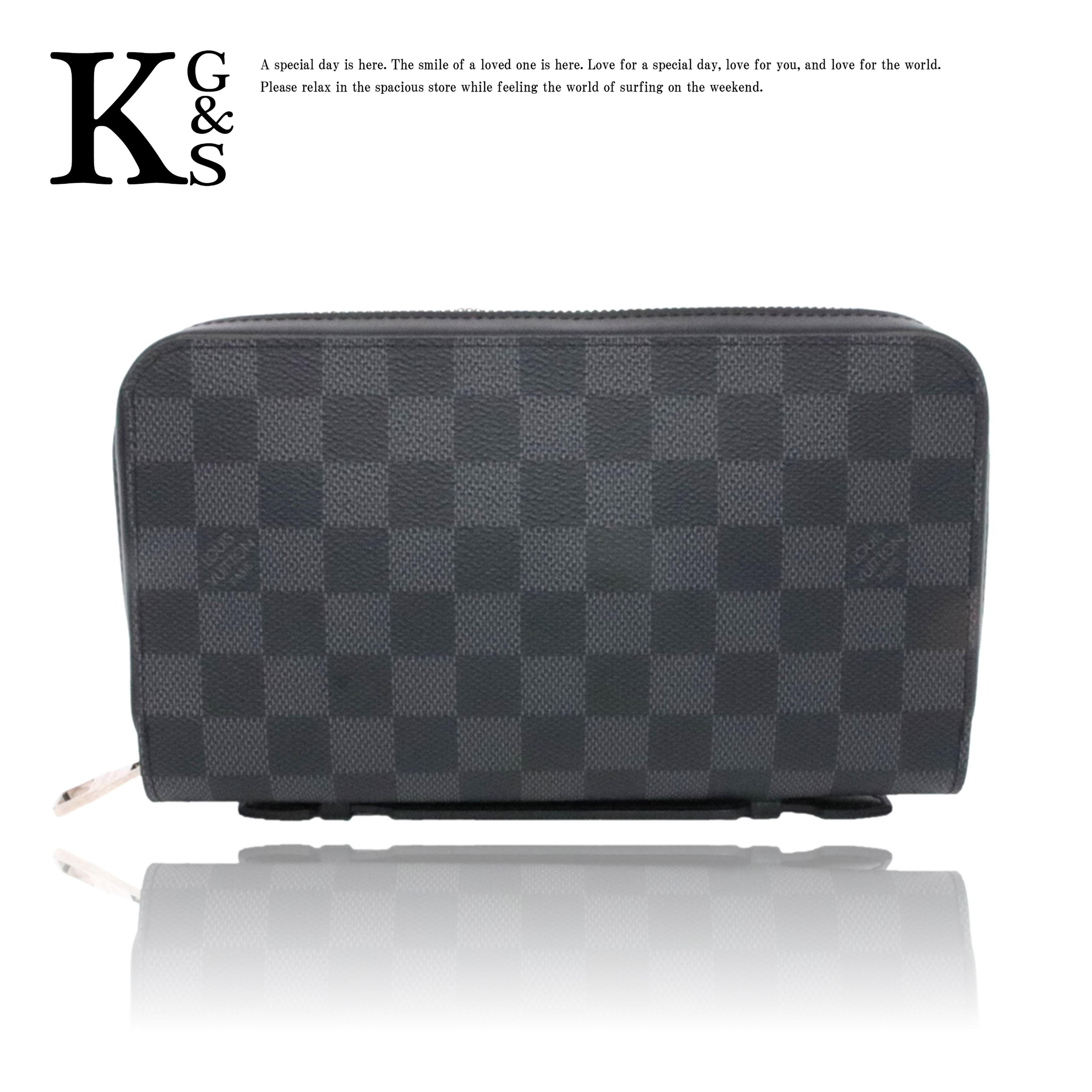 【ギフトランク】ルイヴィトン/Louis Vuitton メンズ ダミエ グラフィット ジッピーXL セカンドバッグ 長財布 N41503