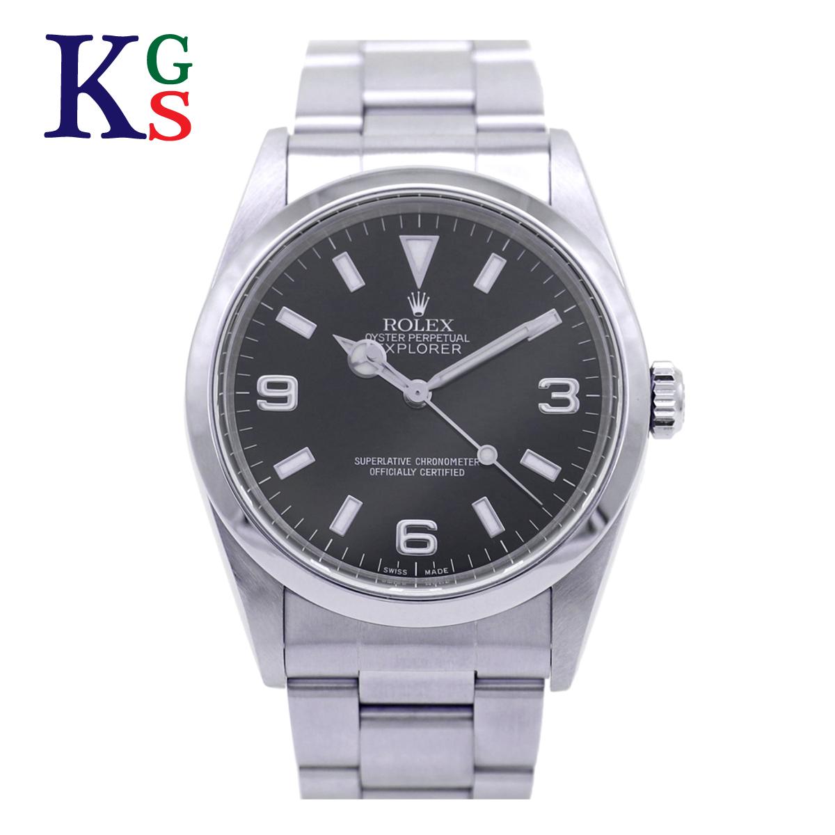 【ギフトランク】ロレックス/ROLEX メンズ 腕時計 エクスプローラー1 ブラック文字盤 ステンレススチール スポーツモデル 14270
