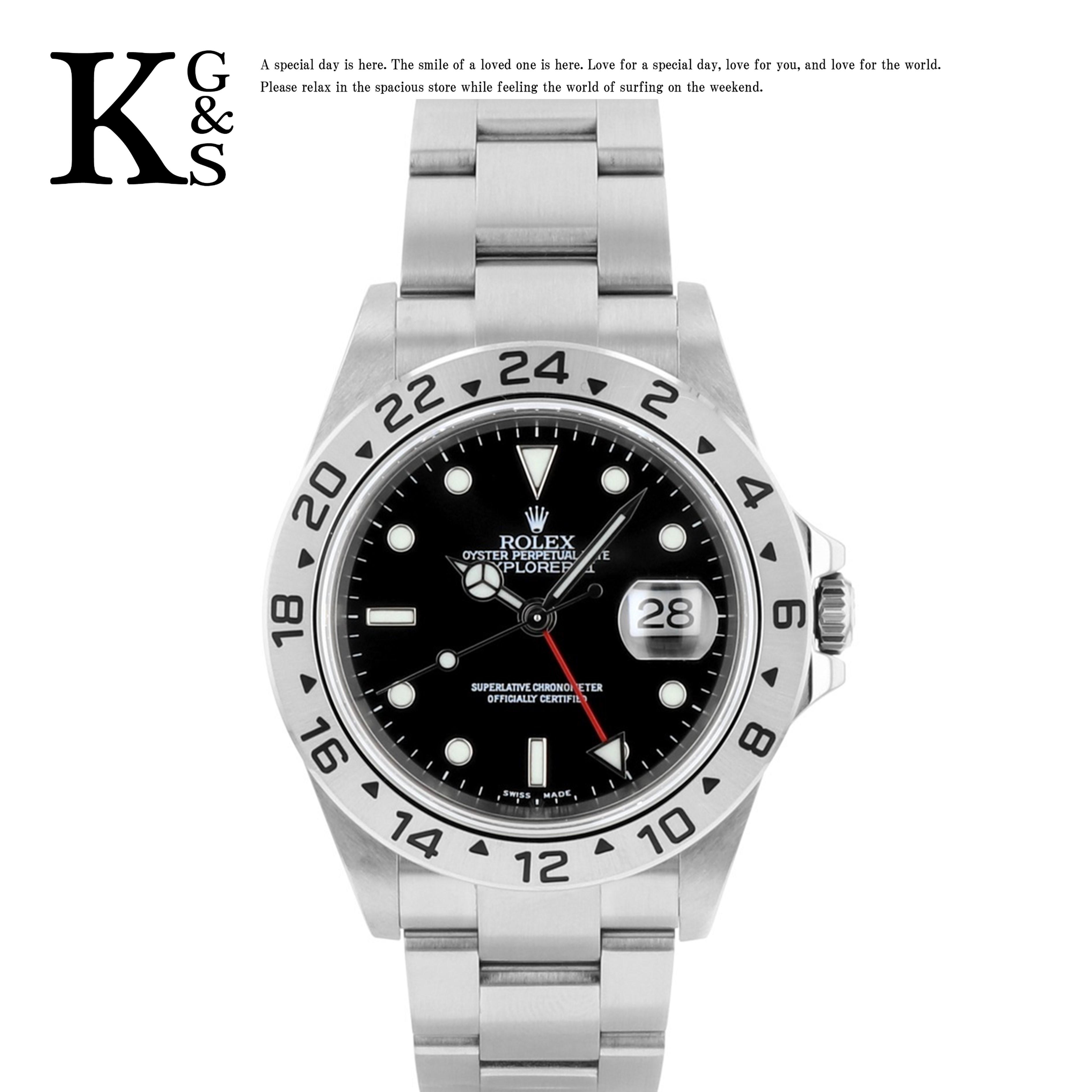 【ギフト品質】ロレックス/ROLEX メンズ 腕時計 エクスプローラー2 ブラック文字盤 ステンレススチール スポーツモデル 16570